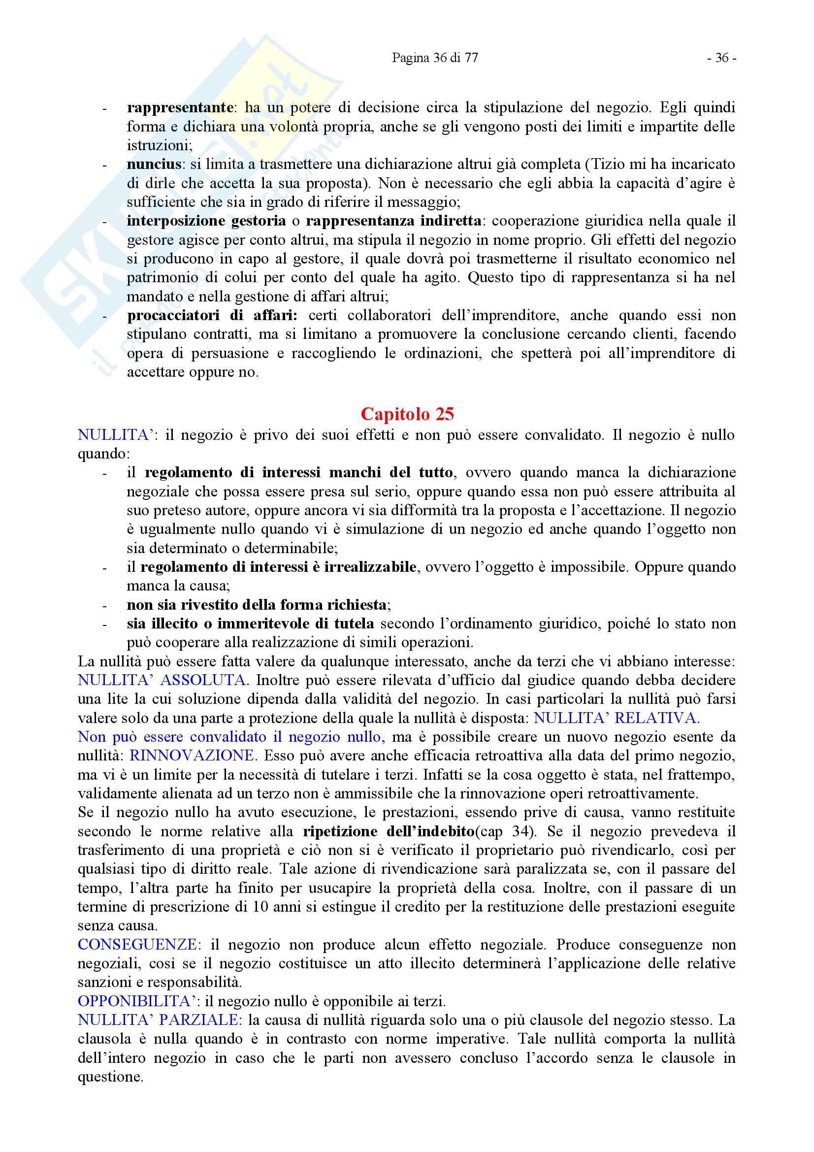 Riassunto esame Diritto Privato, prof. Caricato, libro consigliato Diritto Privato, Trimarchi Pag. 36