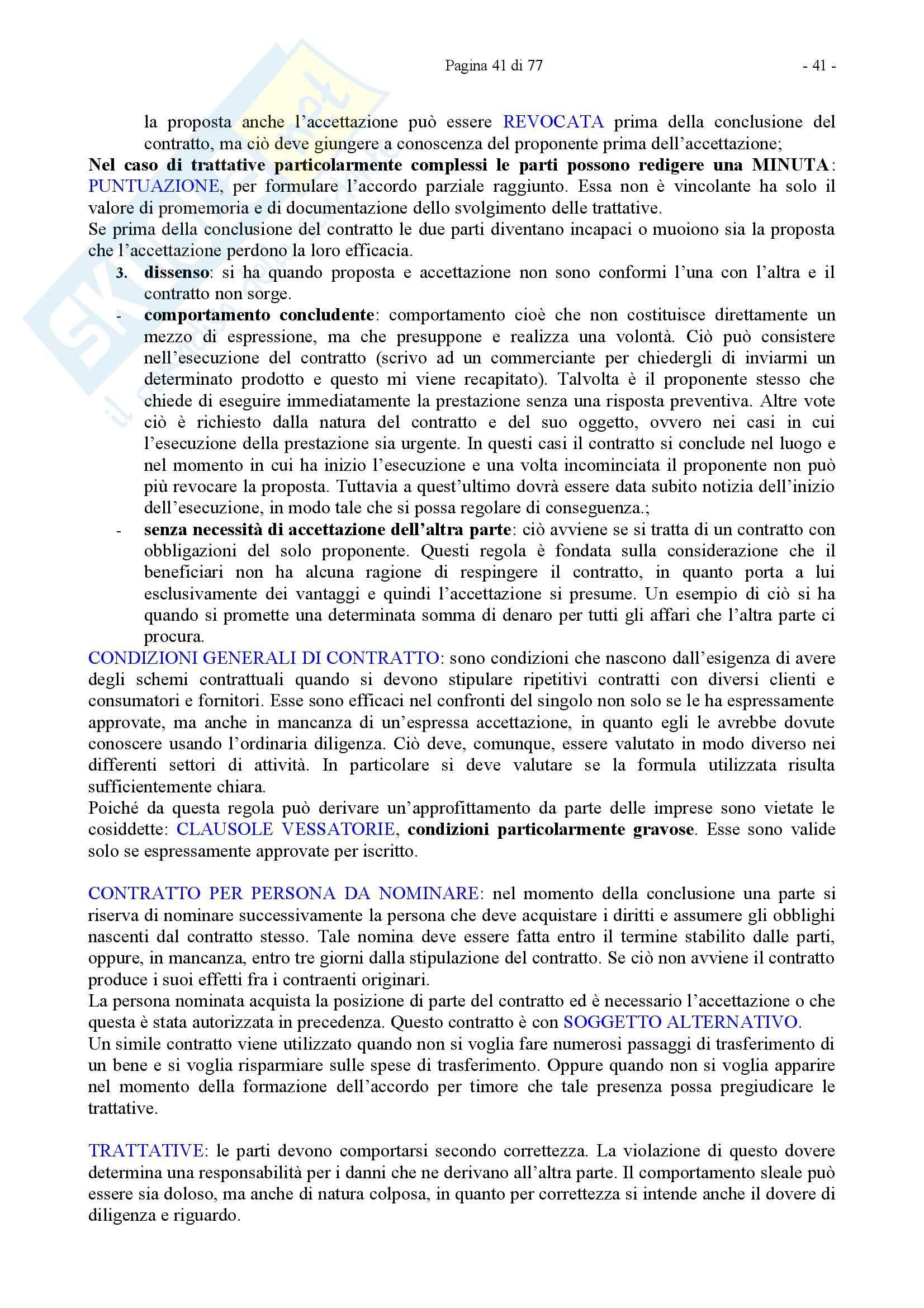 Riassunto esame Diritto Privato, prof. Caricato, libro consigliato Diritto Privato, Trimarchi Pag. 41