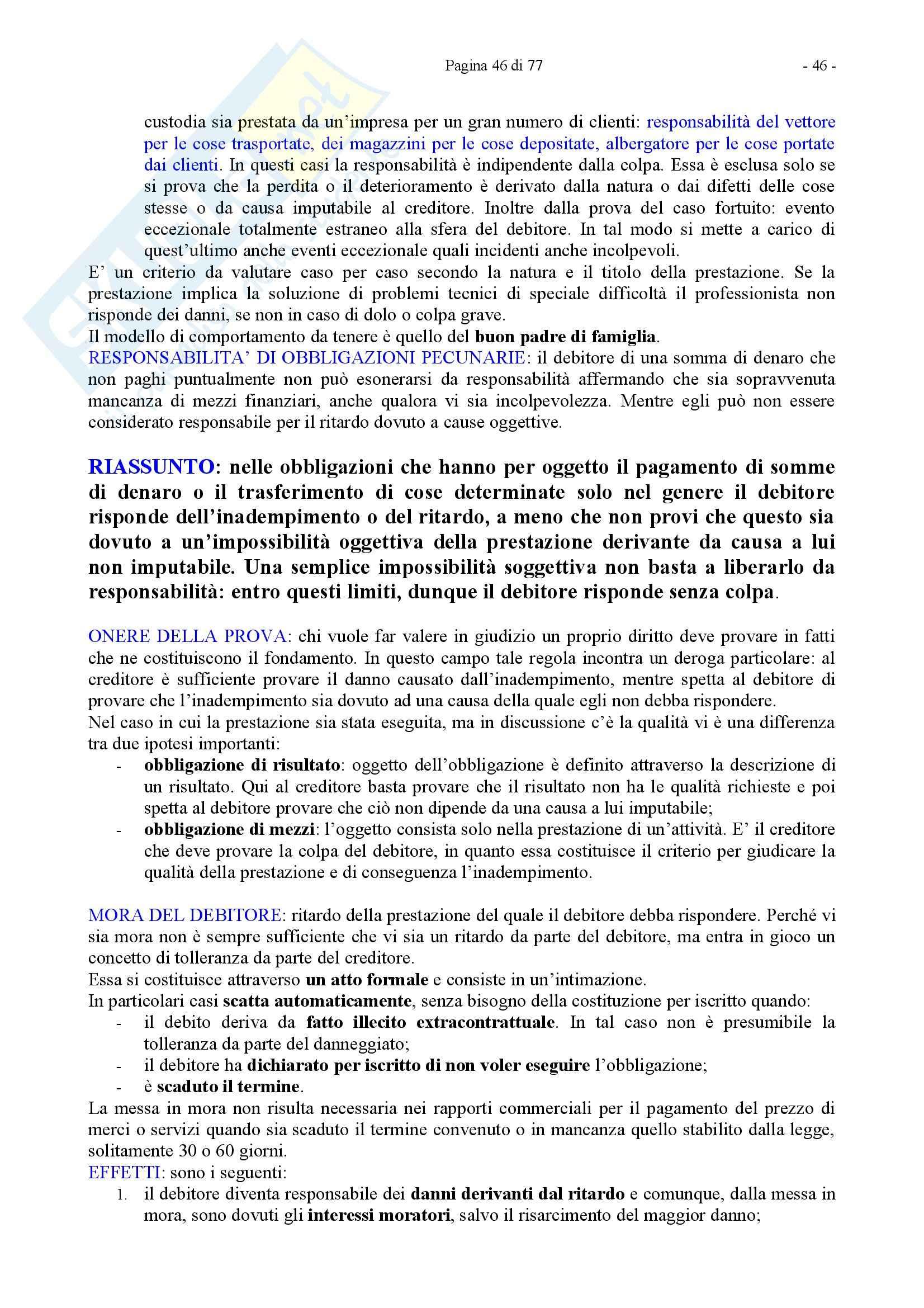 Riassunto esame Diritto Privato, prof. Caricato, libro consigliato Diritto Privato, Trimarchi Pag. 46