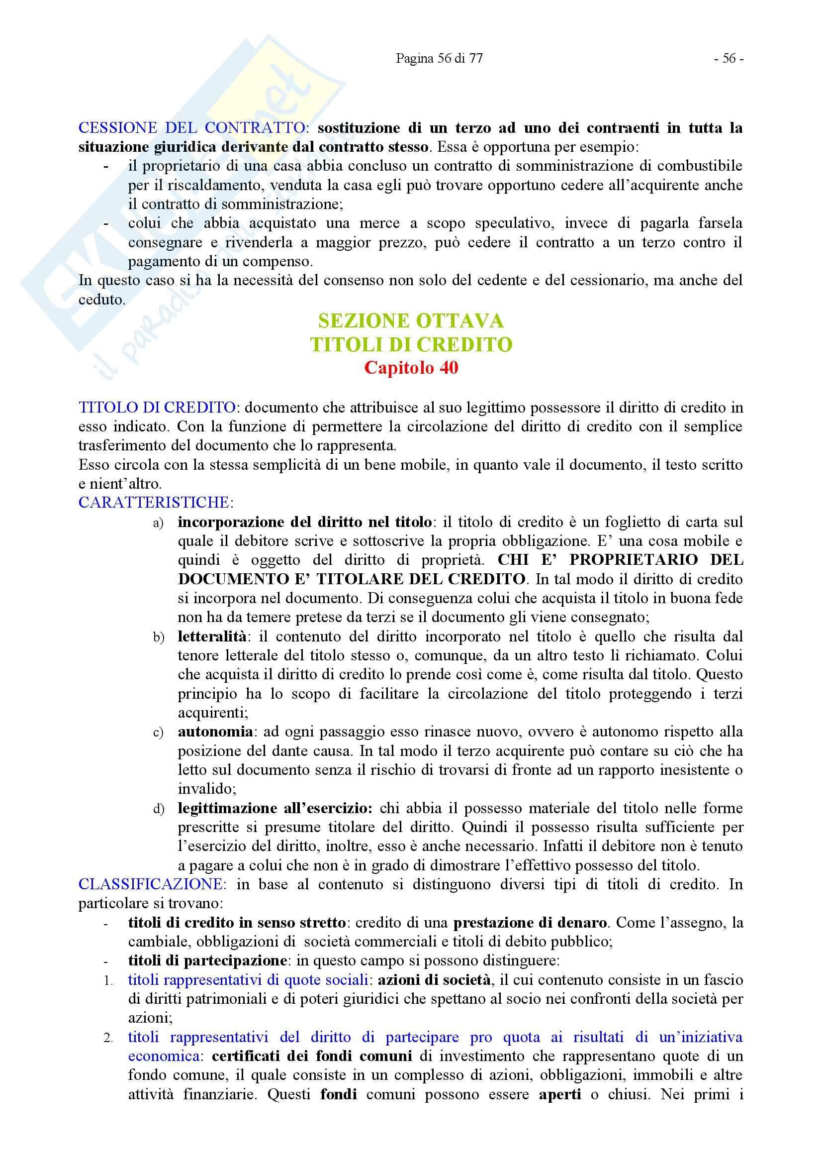 Riassunto esame Diritto Privato, prof. Caricato, libro consigliato Diritto Privato, Trimarchi Pag. 56