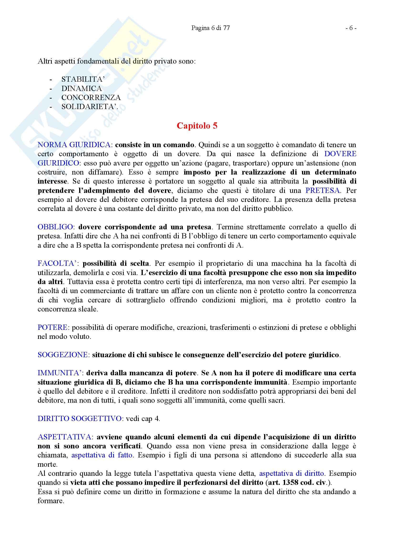 Riassunto esame Diritto Privato, prof. Caricato, libro consigliato Diritto Privato, Trimarchi Pag. 6