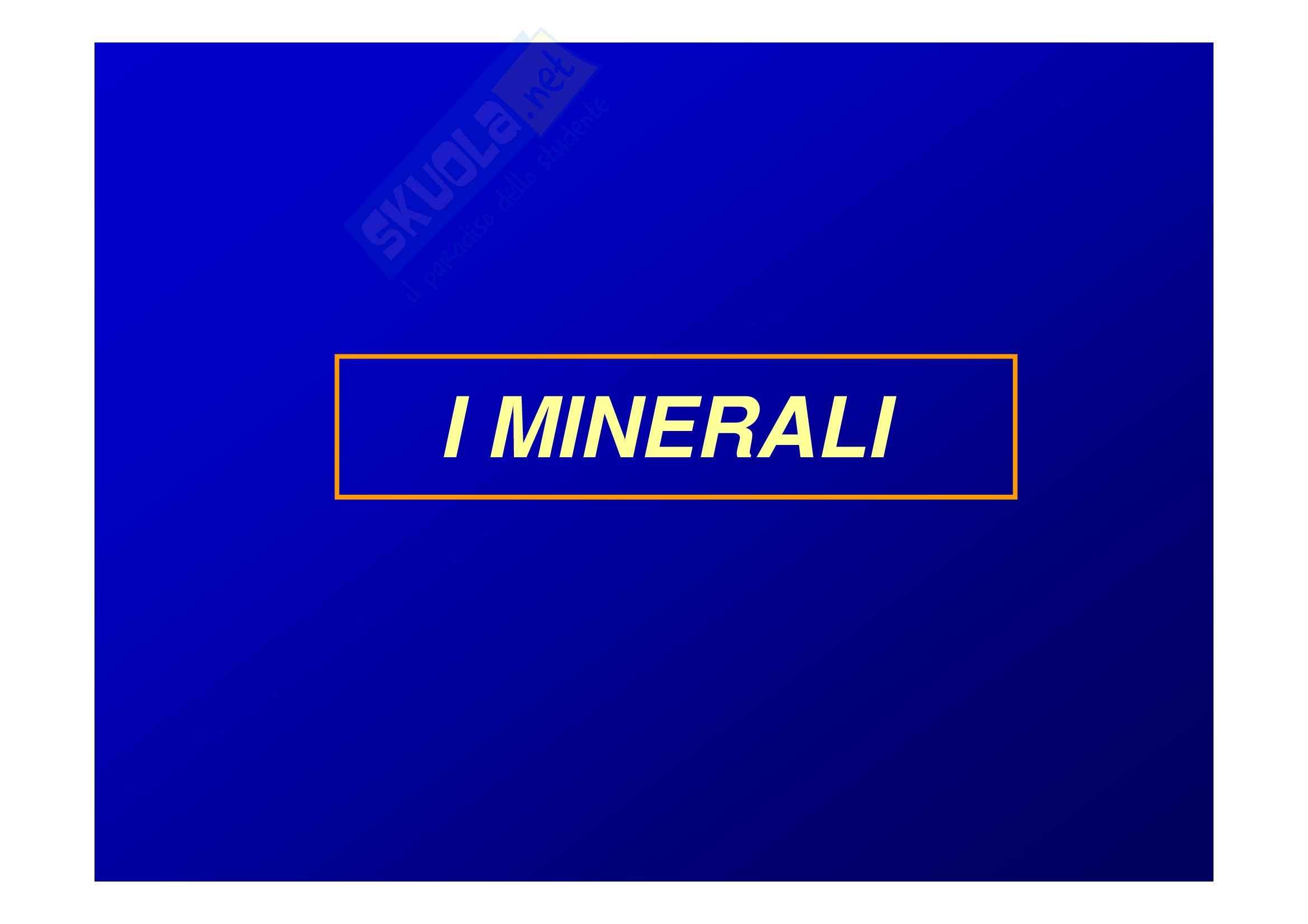 Geologia applicata - minerali
