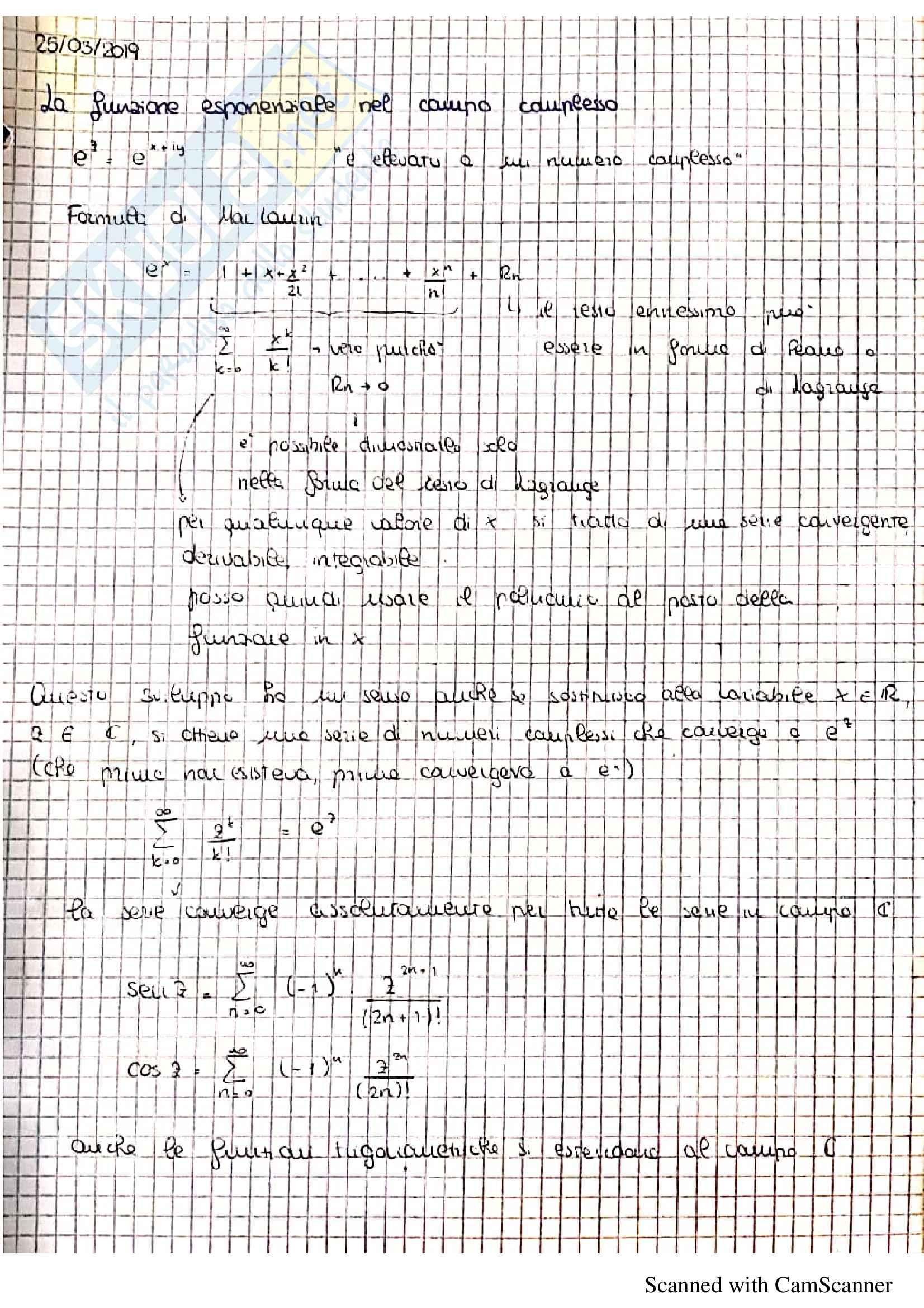Appunti ed esercitazioni di analisi 2