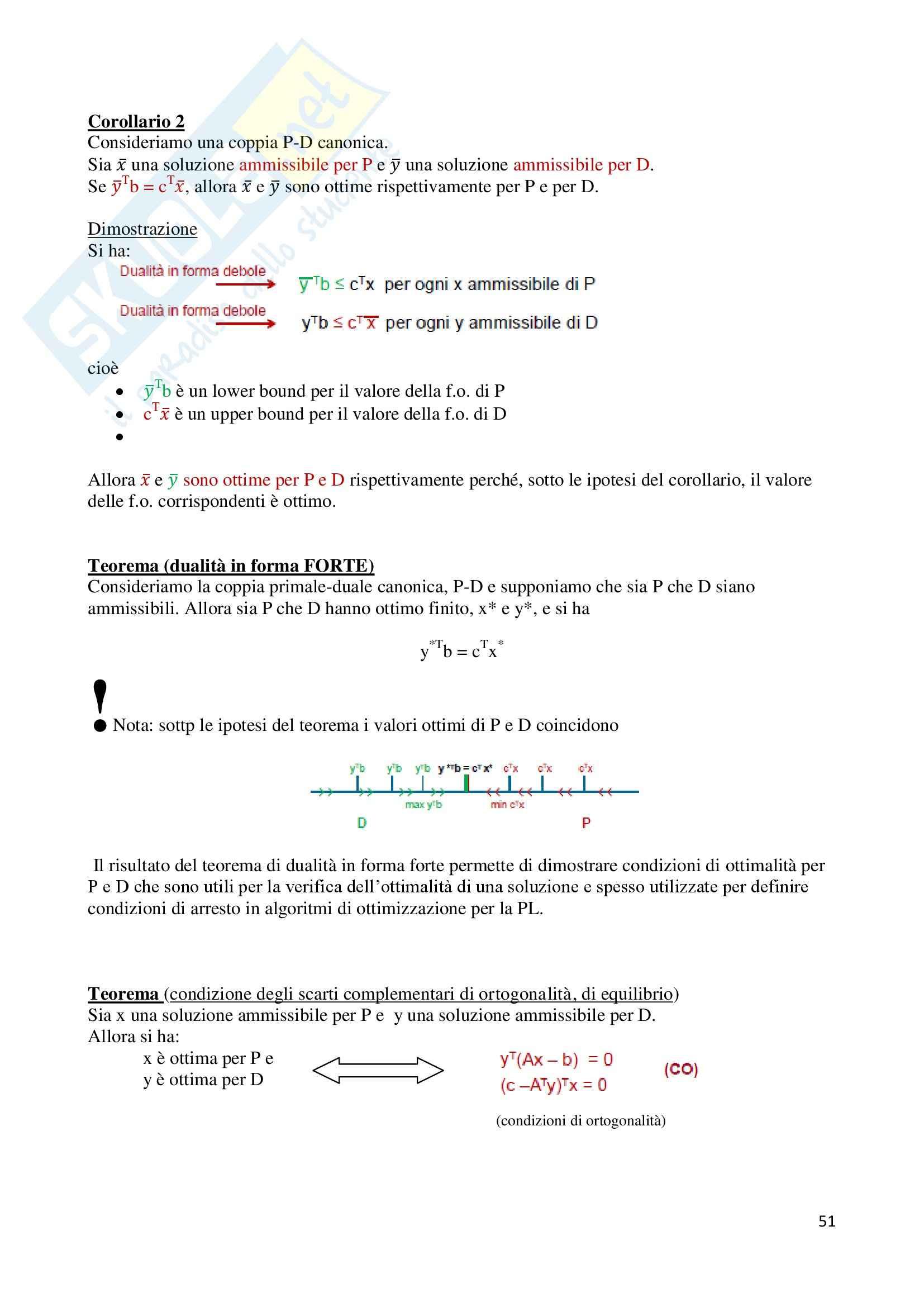 Metodi e modelli di ottimizzazione - Appunti Pag. 51