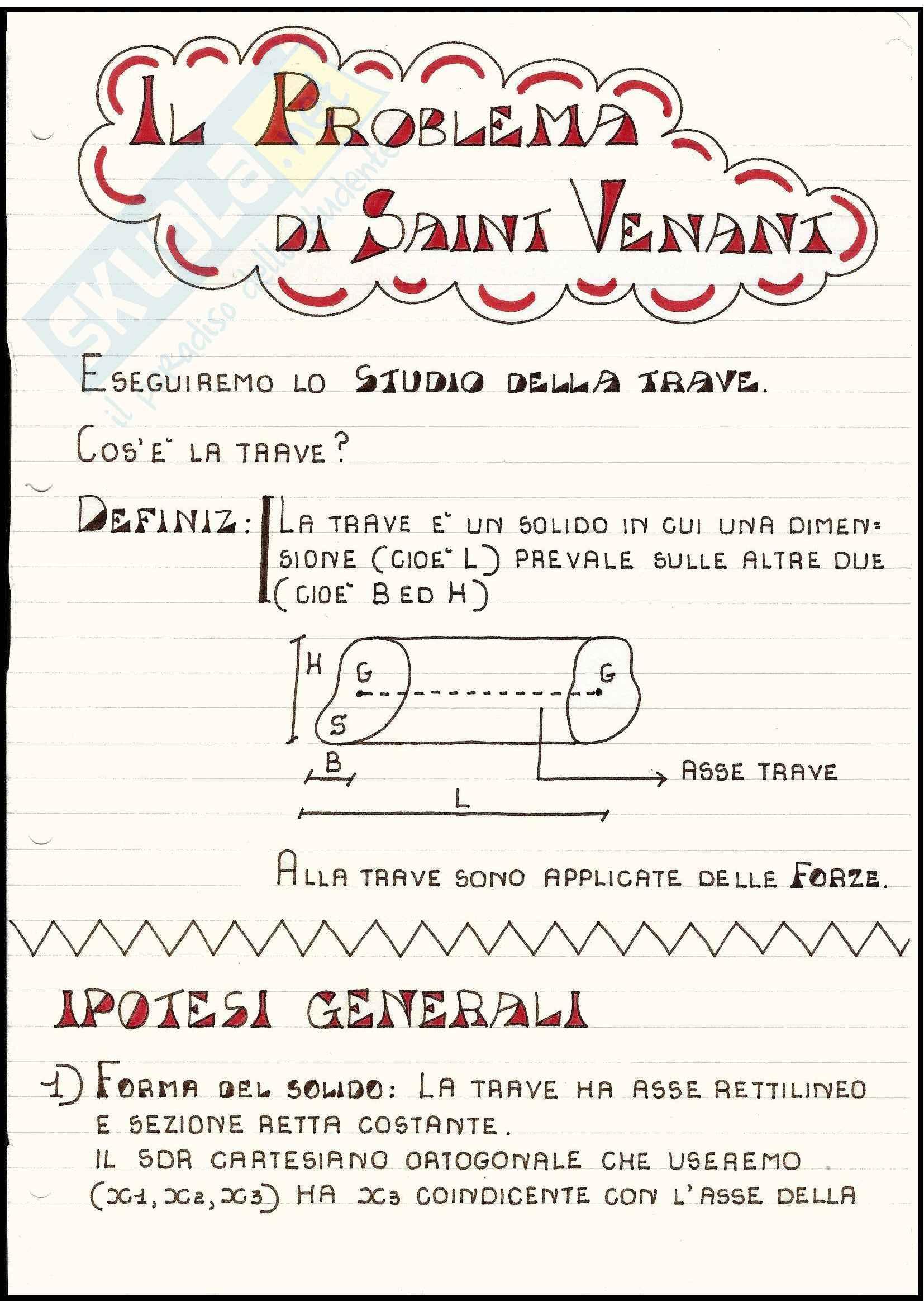 Scienza delle Costruzioni - Il problema di Saint-Venant