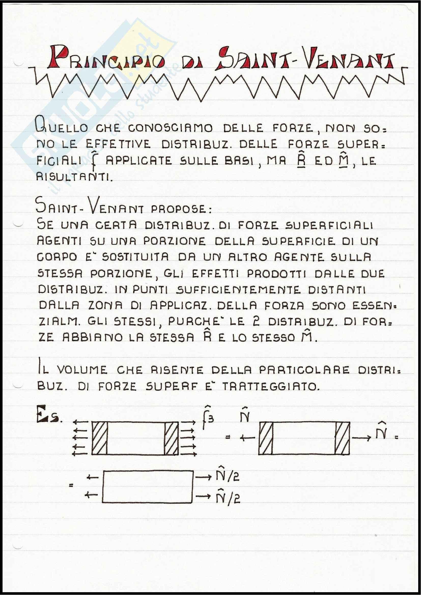 Scienza delle Costruzioni - Il problema di Saint-Venant Pag. 11