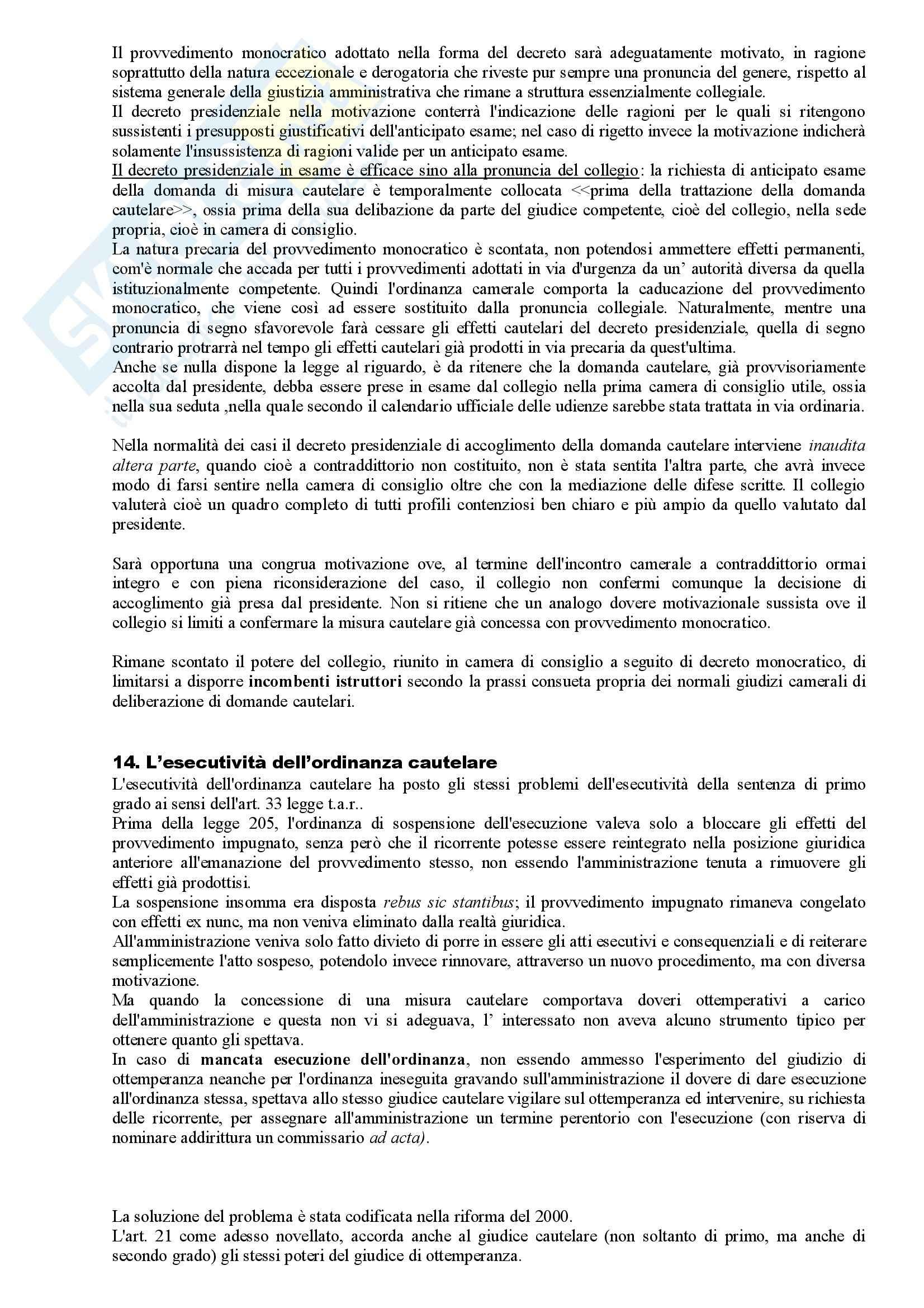 Riassunto esame Diritto Amministrativo, prof. Apicella, libro consigliato Sistema di Giustizia Amministrativa, Saitta Pag. 26