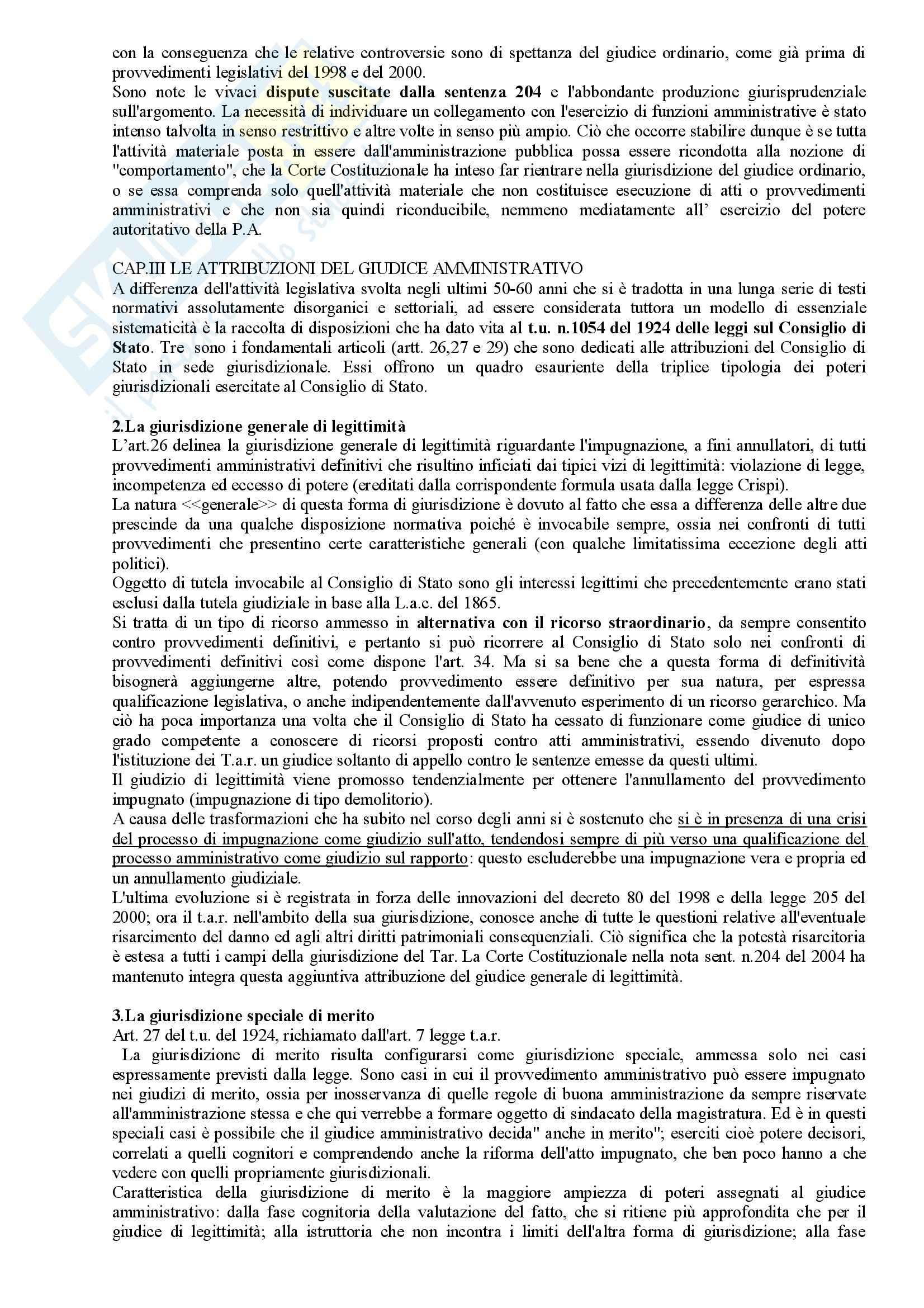 Riassunto esame Diritto Amministrativo, prof. Apicella, libro consigliato Sistema di Giustizia Amministrativa, Saitta Pag. 6