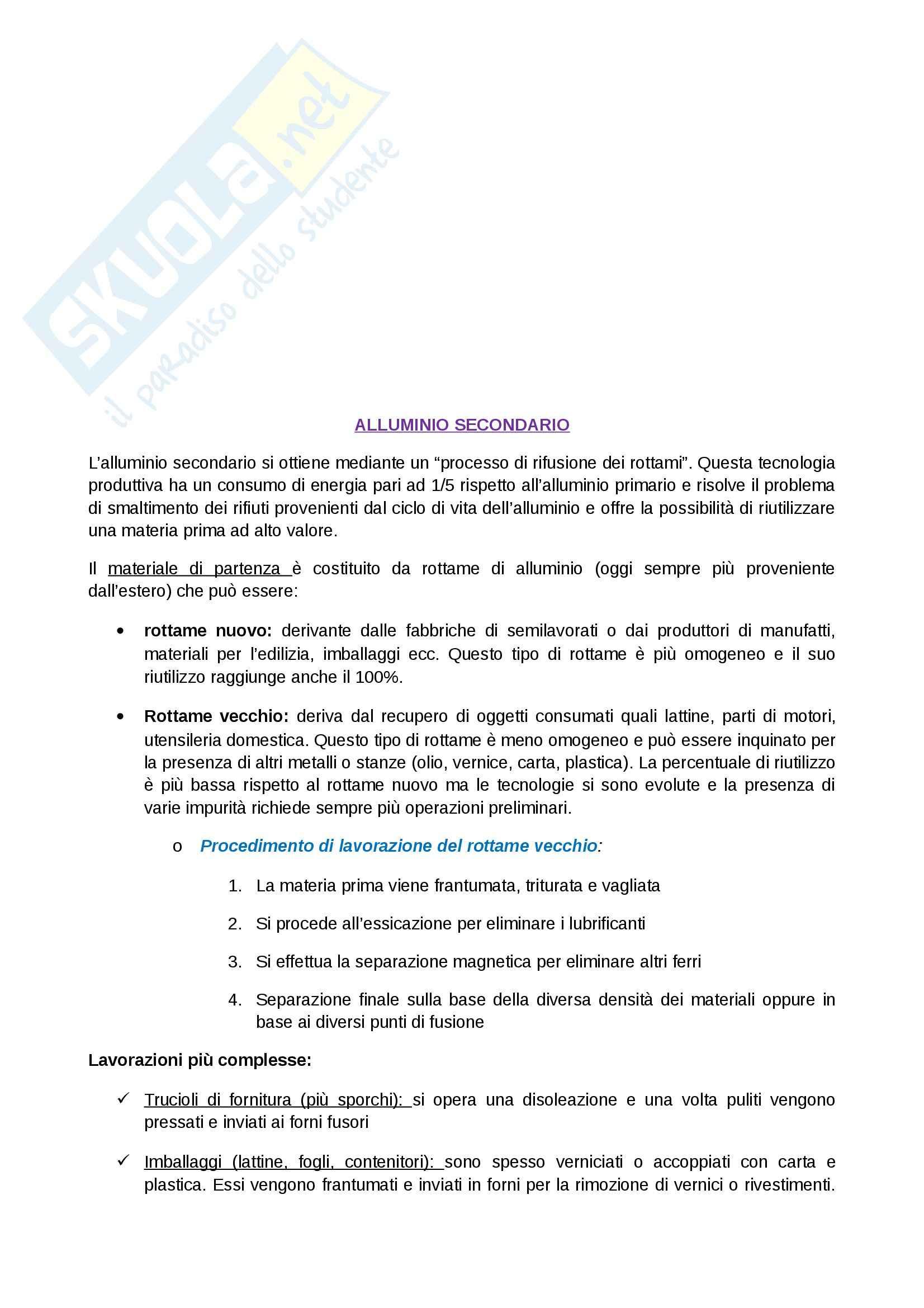 Tecnologia dei cicli produttivi - Appunti Pag. 6