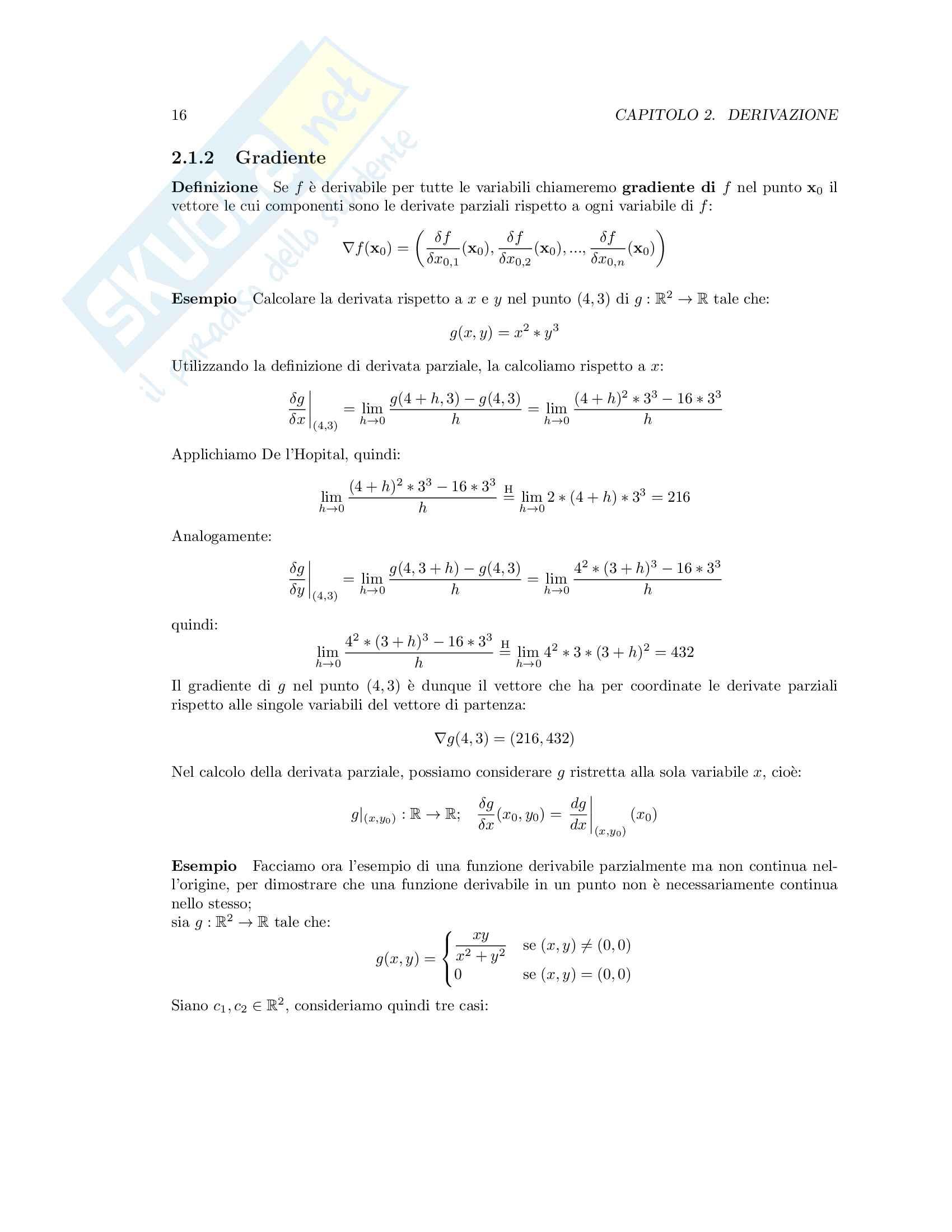 Appunti di Analisi Matematica T-B Pag. 16