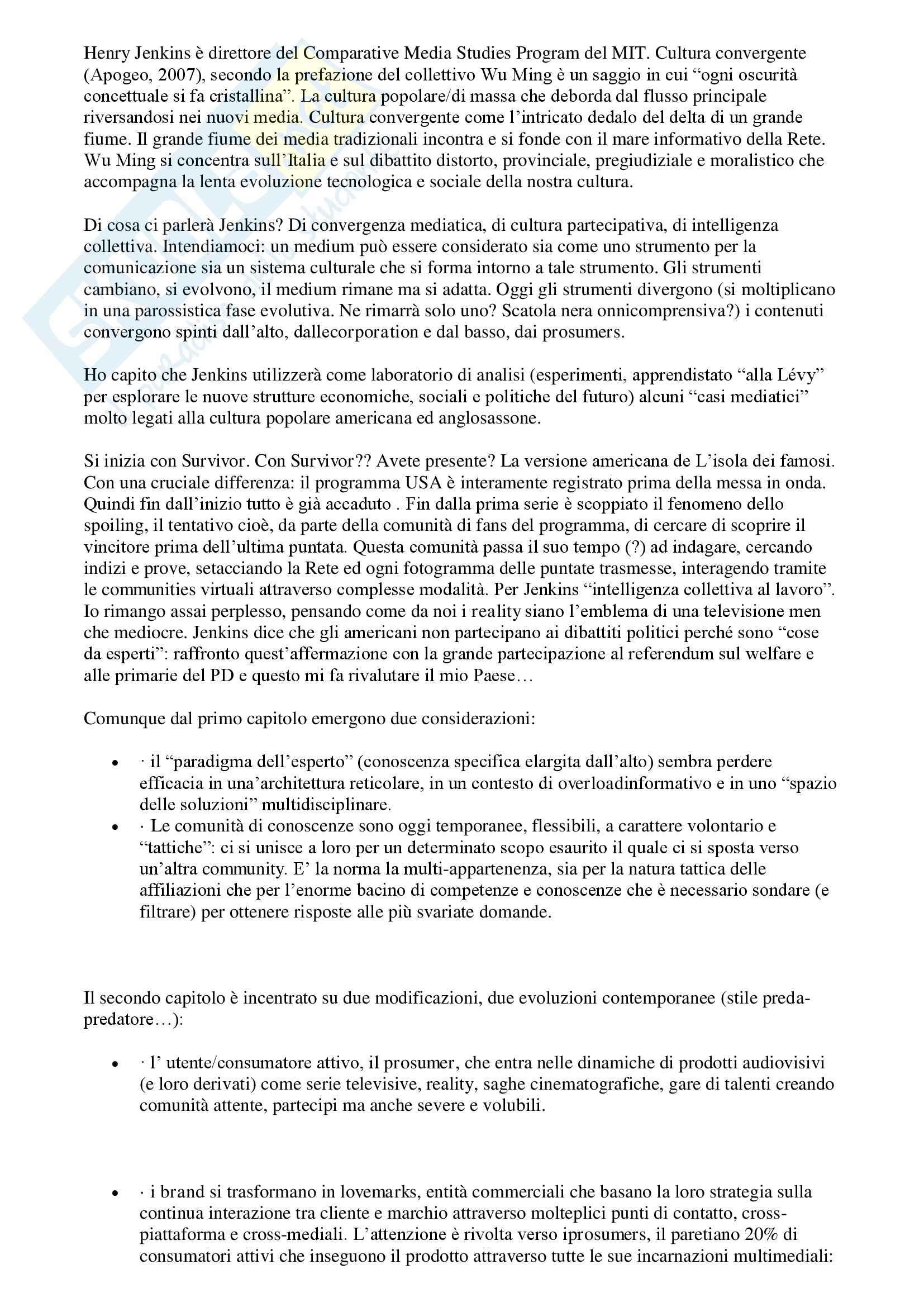 appunto C. Hassan Teorie e tecniche della comunicazione politica e istituzionale