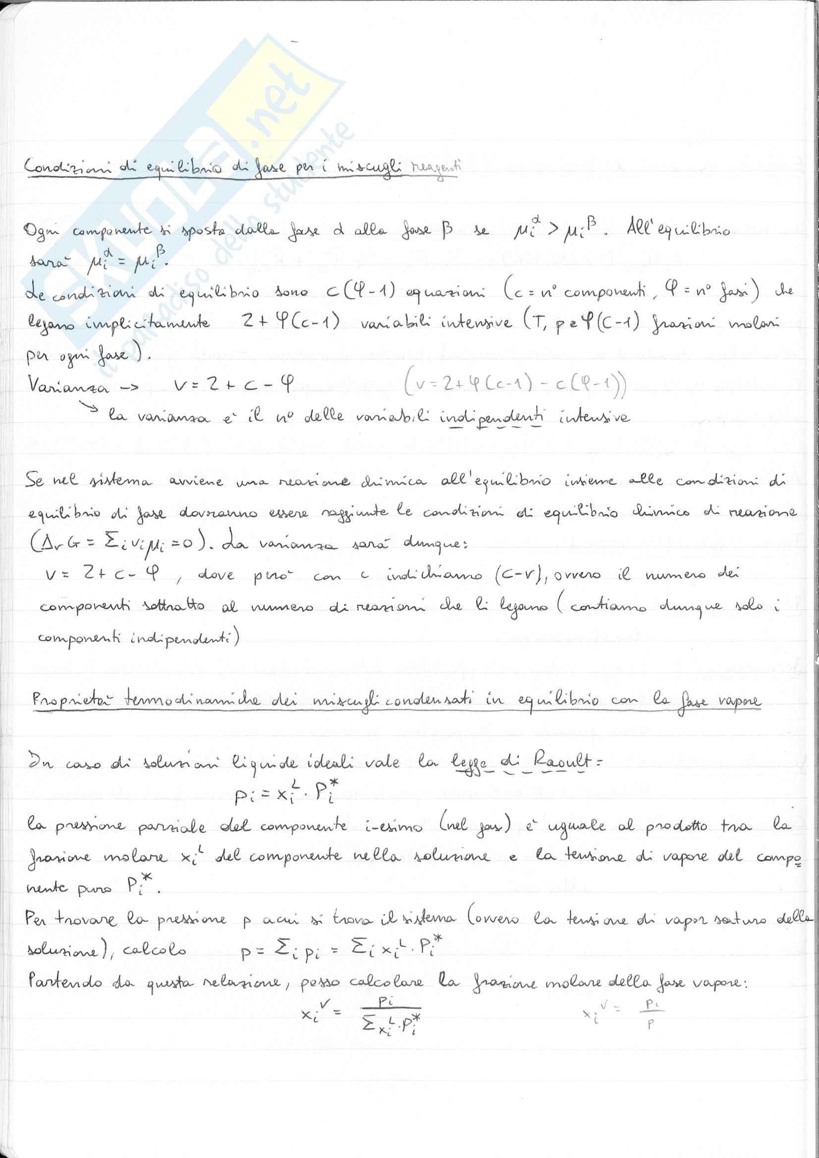 Appunti Chimica Fisica I (Termodinamica Chimica), ideale per tutti i corsi che interessano la termodinamica chimica Pag. 26