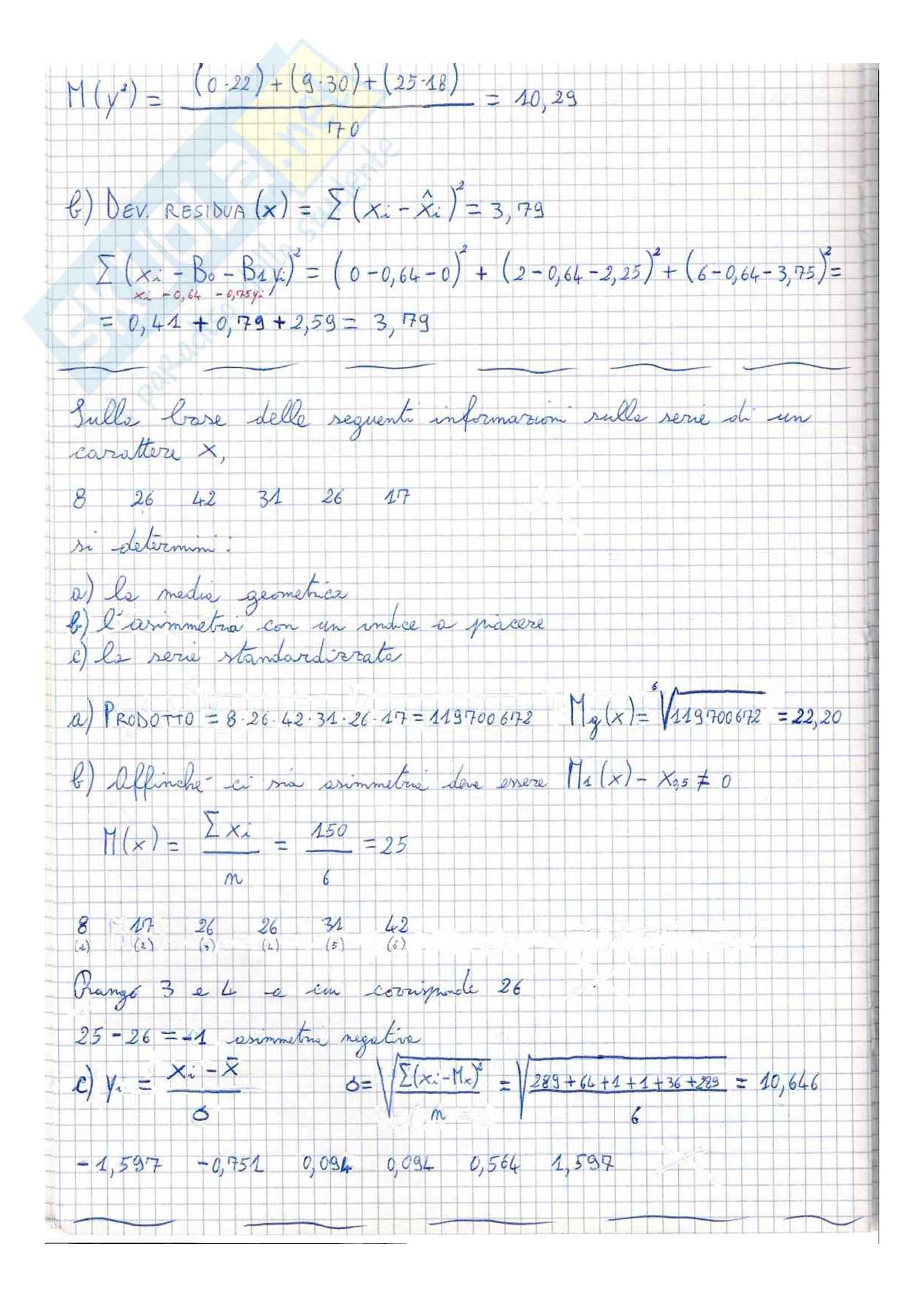 Esercitazione, Statistica Pag. 31
