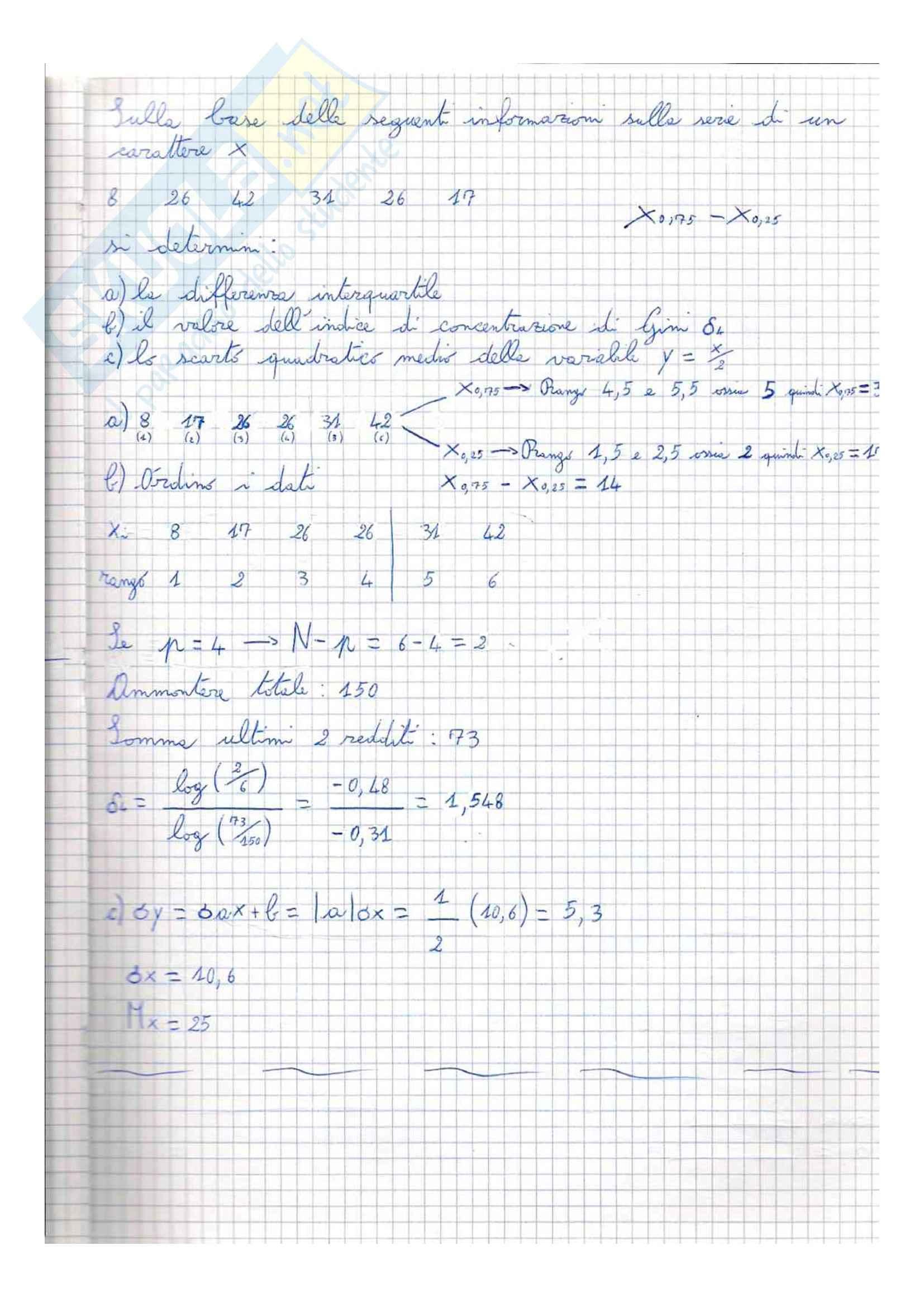 Esercitazione, Statistica Pag. 36
