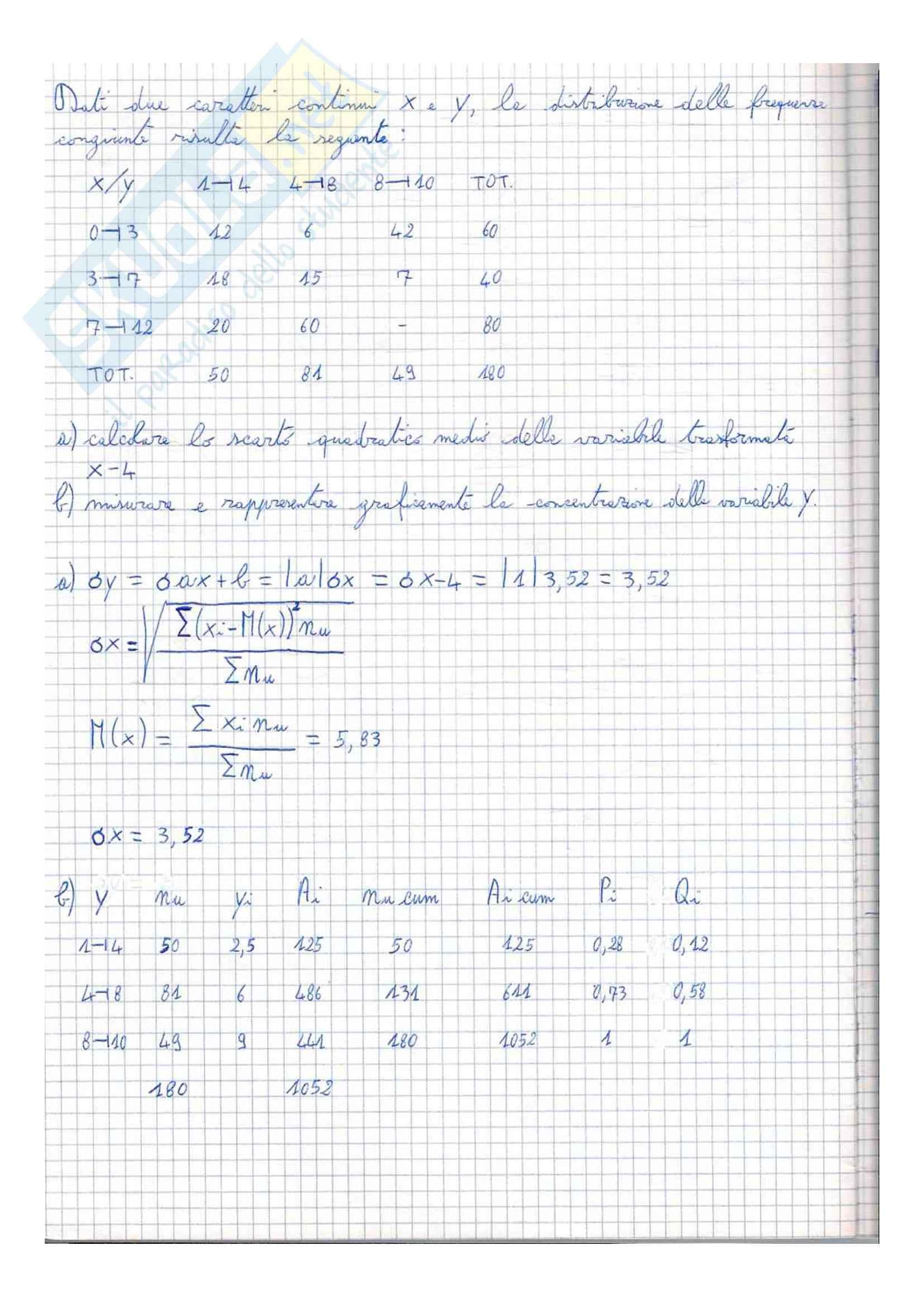 Esercitazione, Statistica Pag. 6