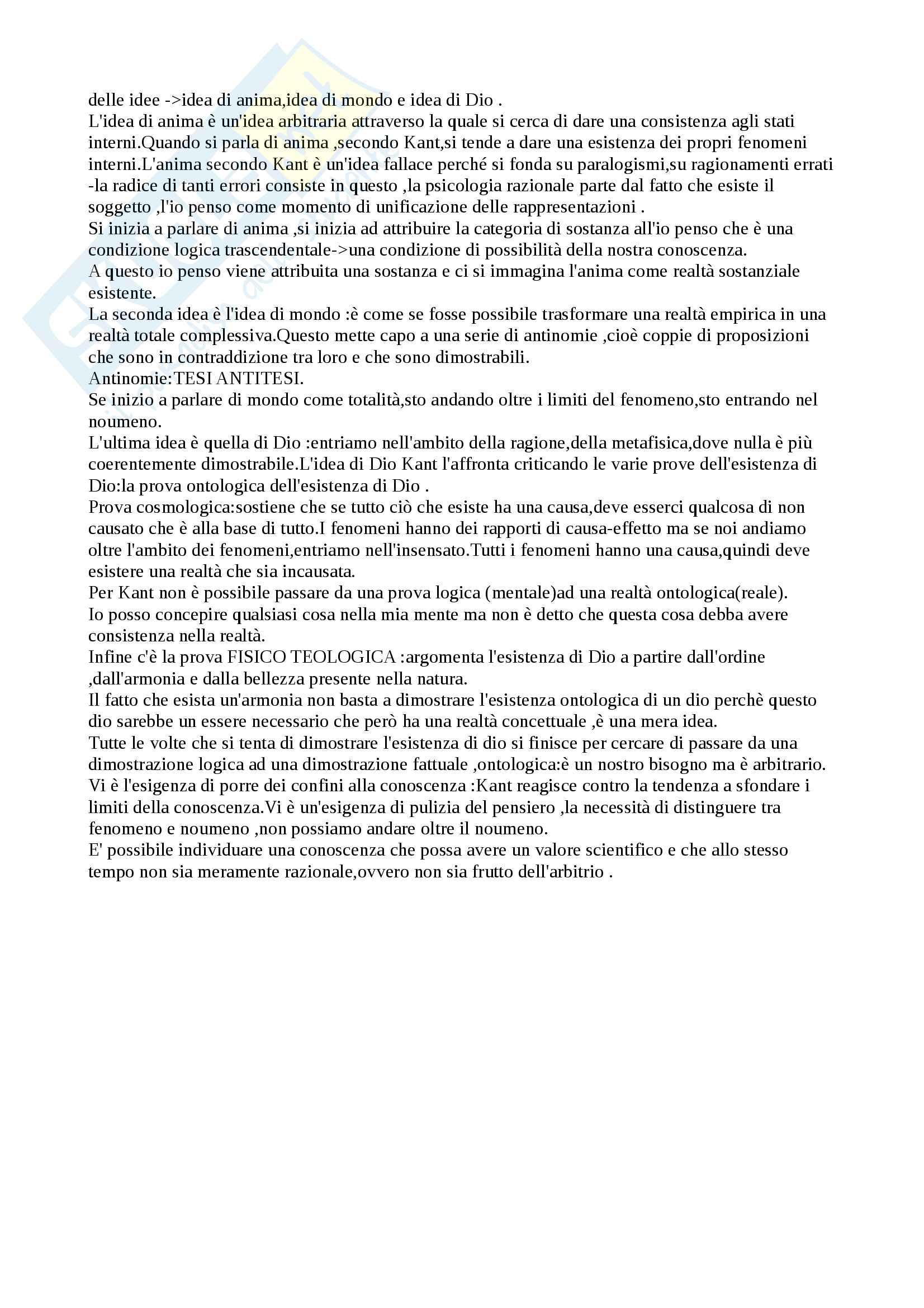 Storia Della Filoofia (Kant) Pag. 6