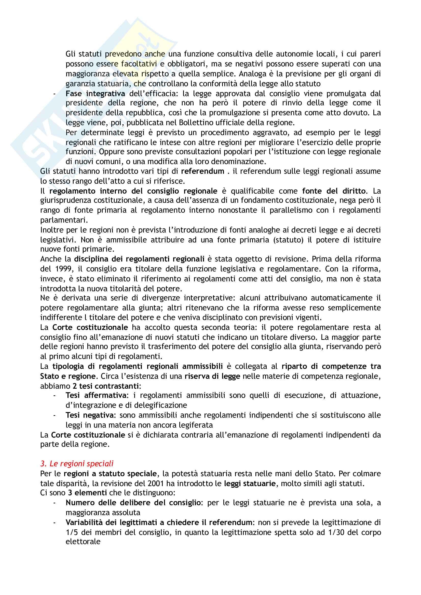 Riassunto esame Diritto costituzionale, prof. Tartaglia Polcini, libro consigliato Manuale di diritto costituzionale italiano ed europeo, Romboli Pag. 16