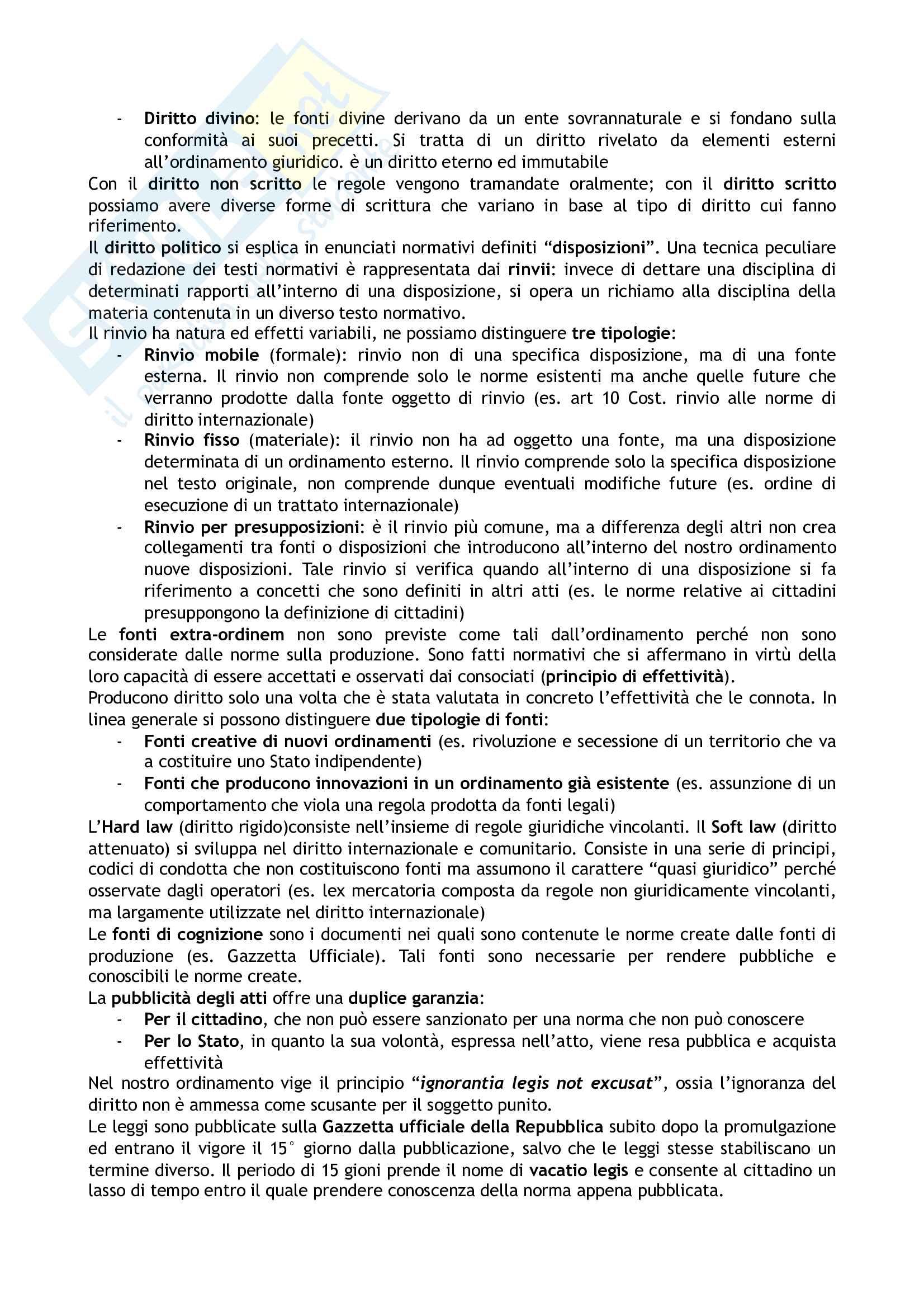 Riassunto esame Diritto costituzionale, prof. Tartaglia Polcini, libro consigliato Manuale di diritto costituzionale italiano ed europeo, Romboli Pag. 2