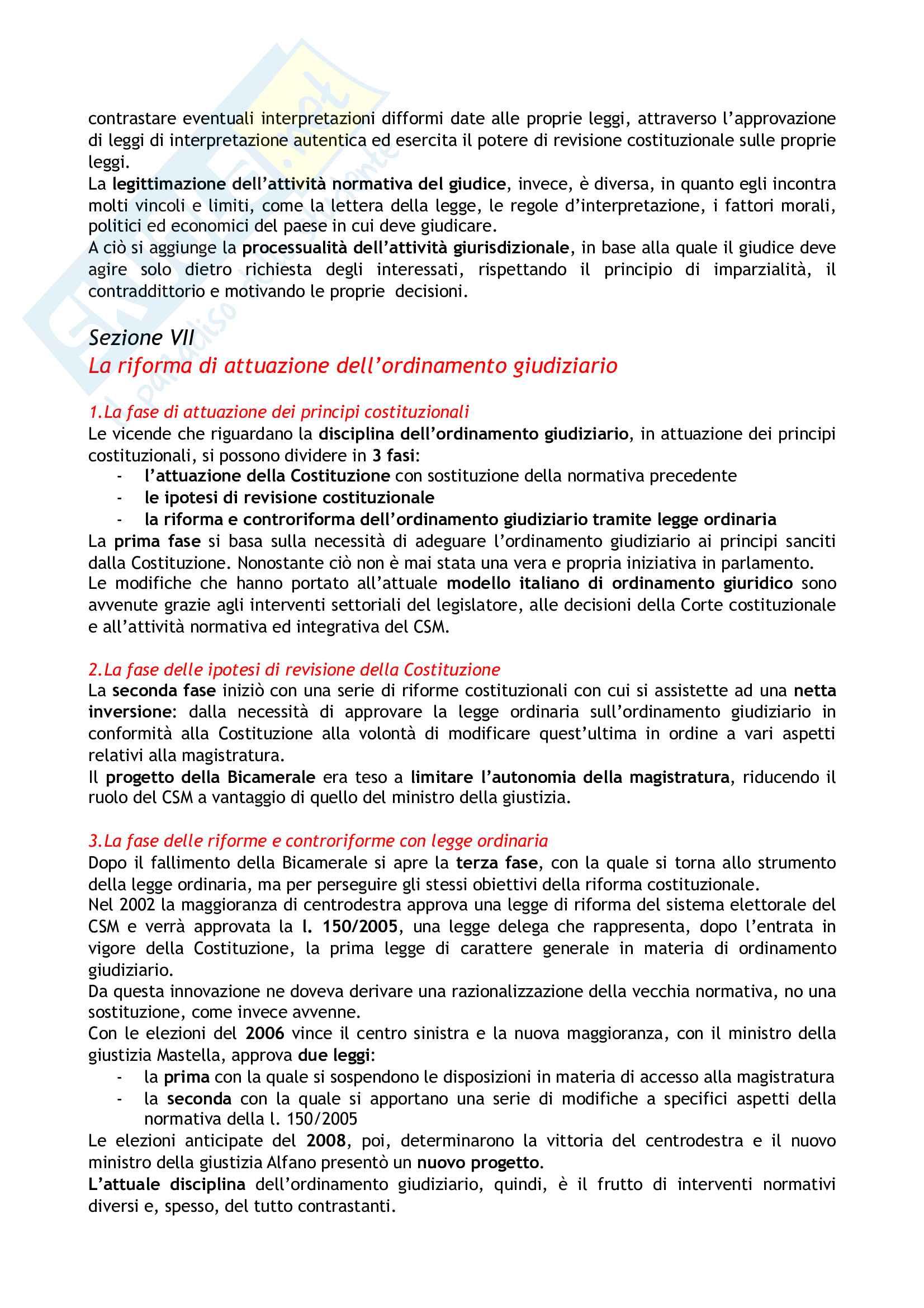 Riassunto esame Diritto costituzionale, prof. Tartaglia Polcini, libro consigliato Manuale di diritto costituzionale italiano ed europeo, Romboli Pag. 31