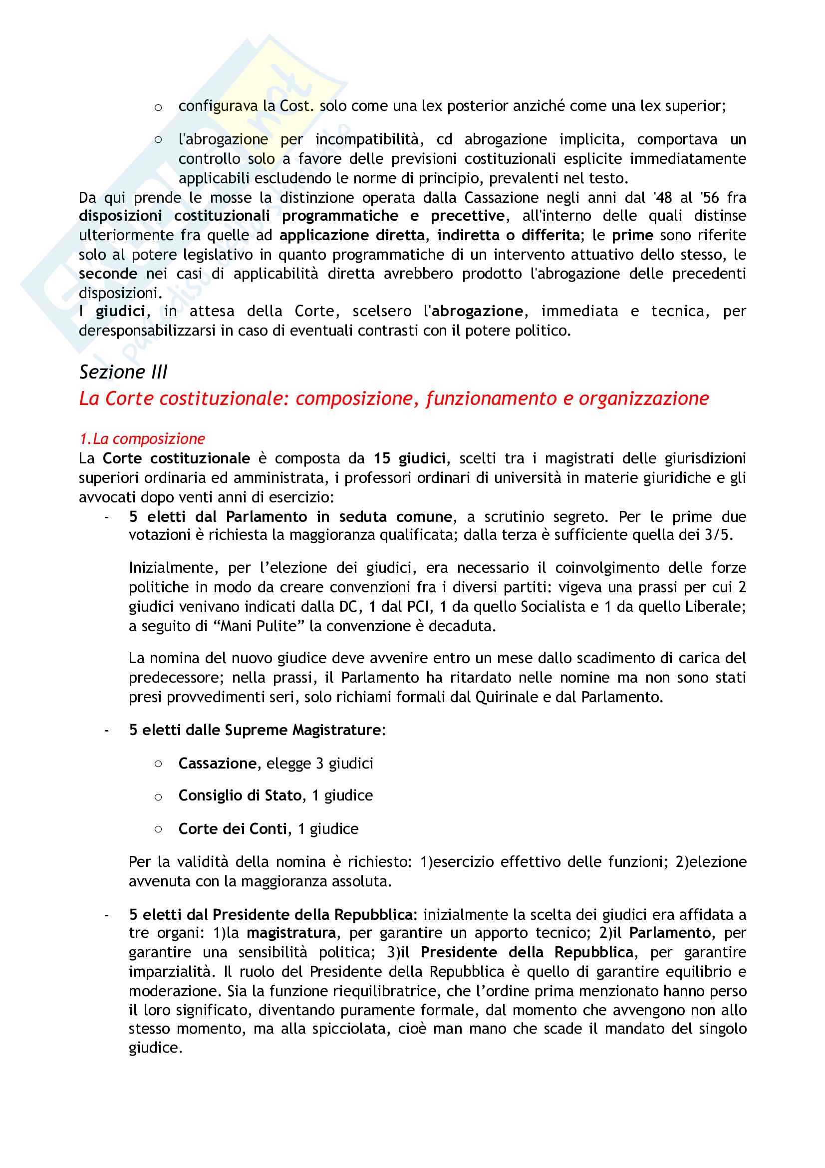 Riassunto esame Diritto costituzionale, prof. Tartaglia Polcini, libro consigliato Manuale di diritto costituzionale italiano ed europeo, Romboli Pag. 36