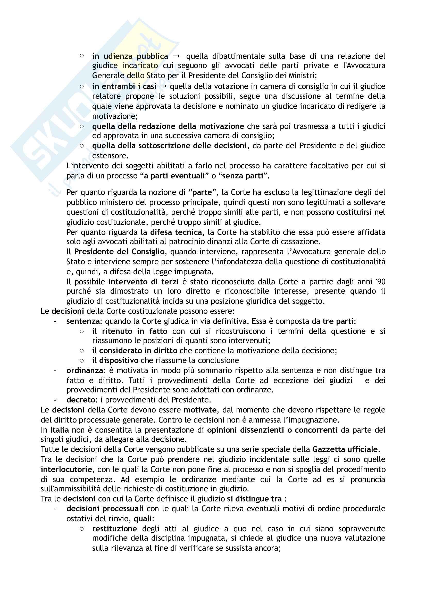 Riassunto esame Diritto costituzionale, prof. Tartaglia Polcini, libro consigliato Manuale di diritto costituzionale italiano ed europeo, Romboli Pag. 41