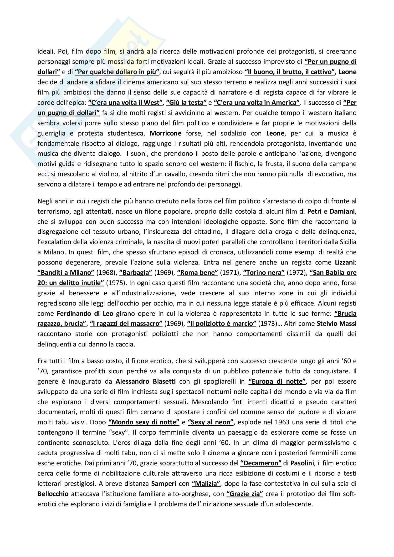 Riassunto esame Storia del Cinema Italiano, prof. Altieri, libro consigliato Storia del Cinema Italiano, Brunetta Pag. 41