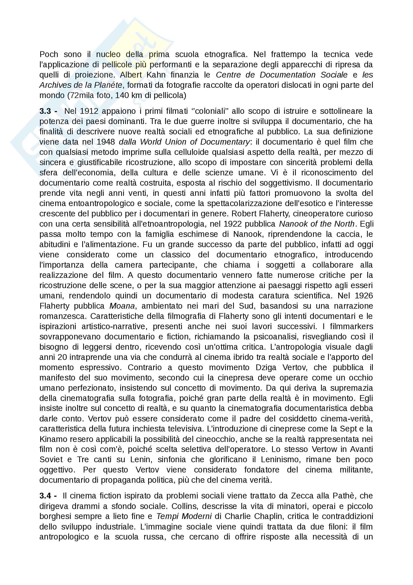 Riassunto esame Sociologia dei processi culturali, prof. Mattioli, libro consigliato La sociologia visuale, che cos'è e come si fa, Mattioli Pag. 6