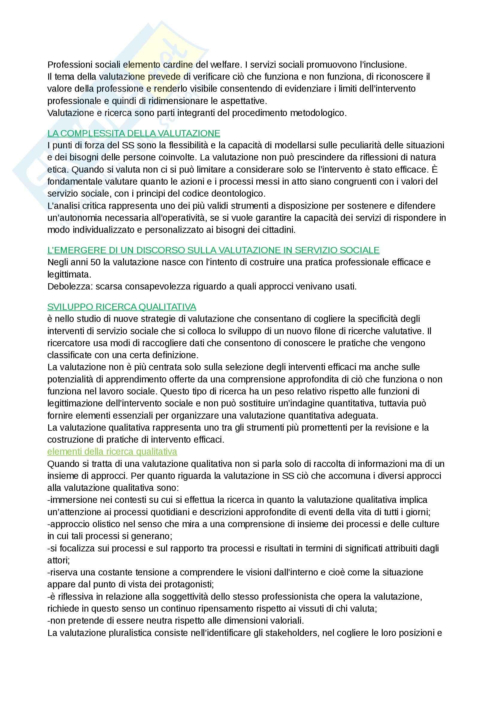 Riassunto esame Metodi e tecniche del servizio sociale, prof. Bertotti, libro consigliato Il metodo del servizio sociale Pag. 11