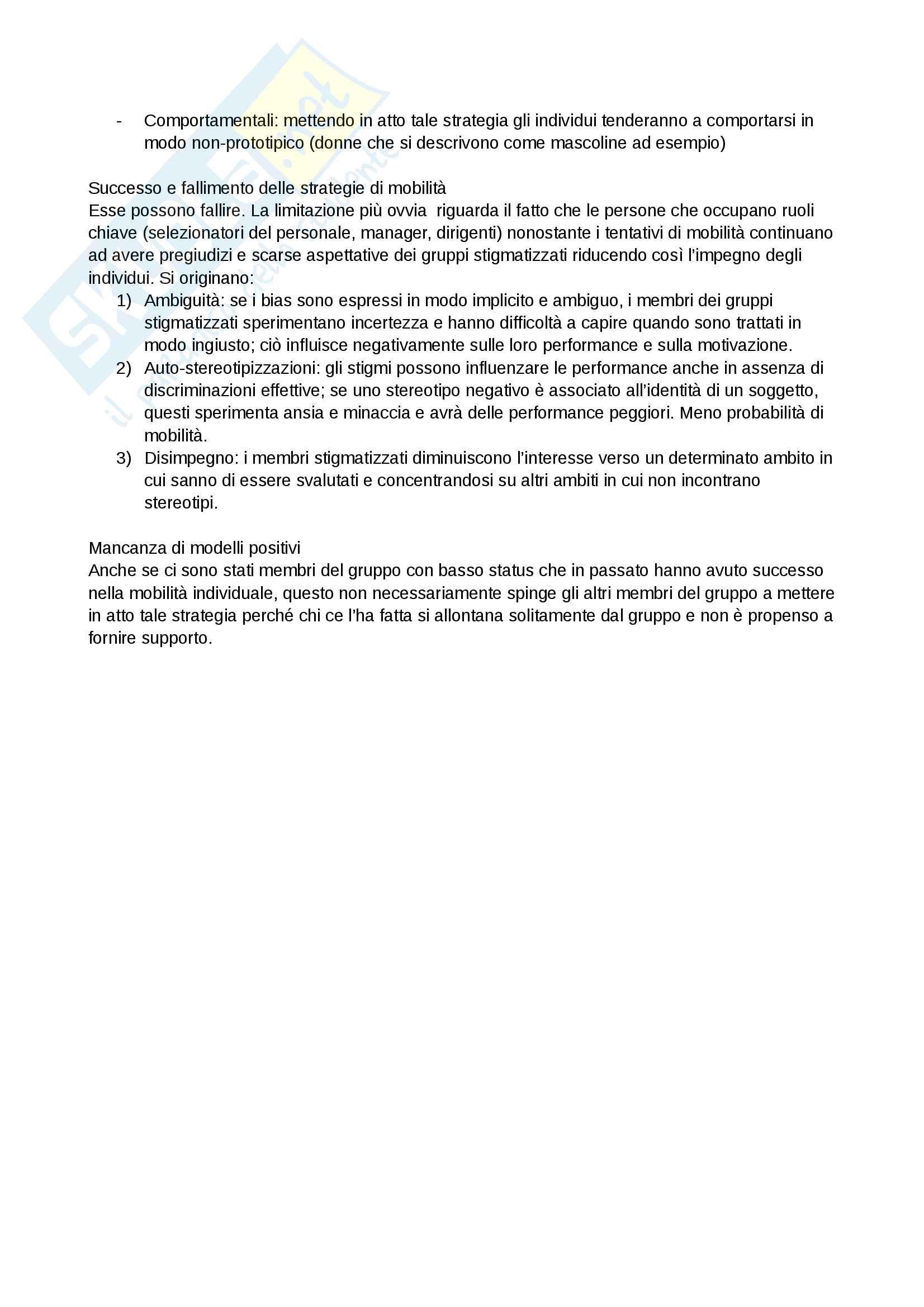 Riassunto esame e Appunti completi di Psicologia Sociale: corso avanzato per l'esame della Prof. Sacchi su Pregiudizio, Stereotipo, Discriminazione Bicocca Pag. 51