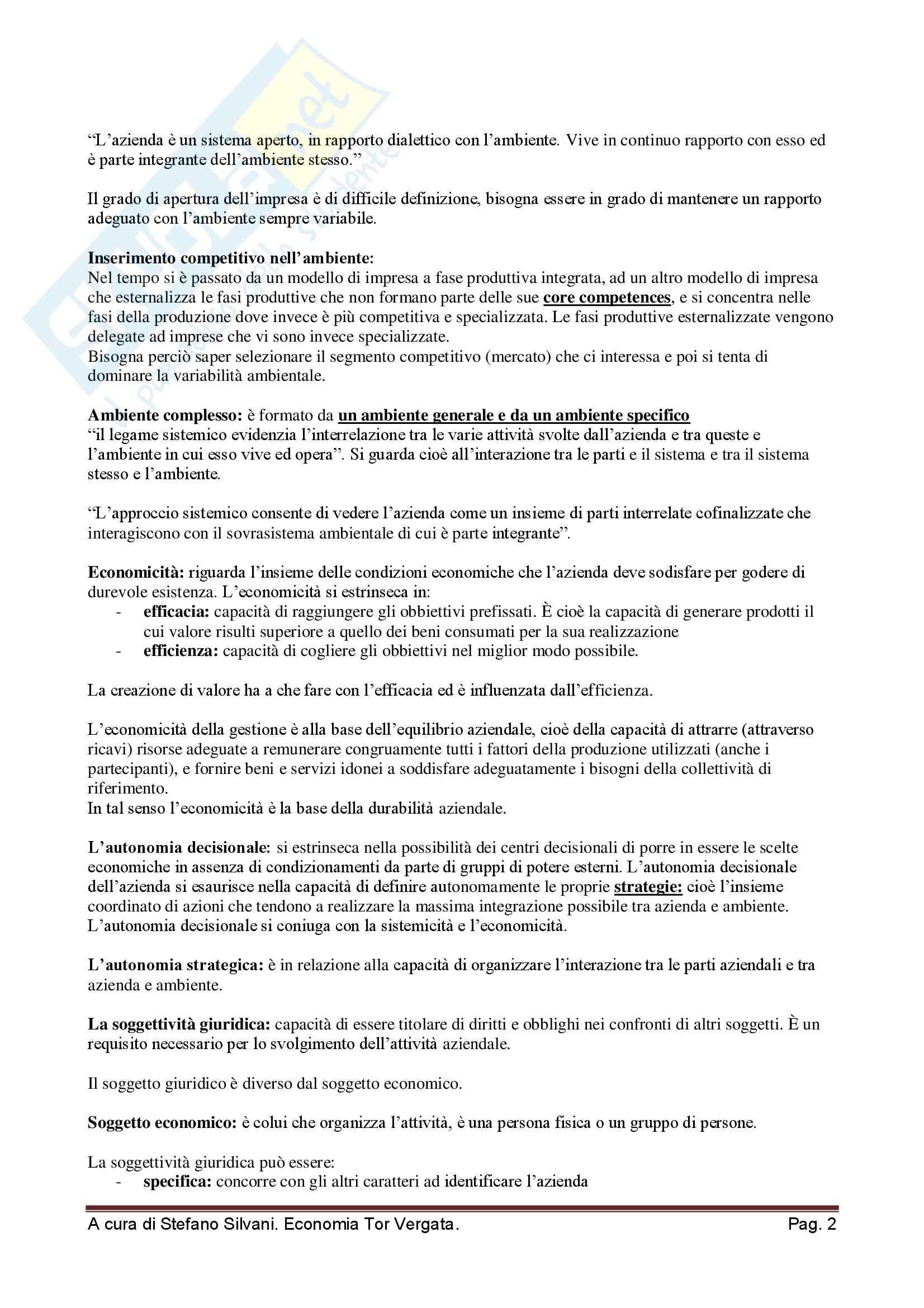 Strategia e politica aziendale - Appunti Pag. 2