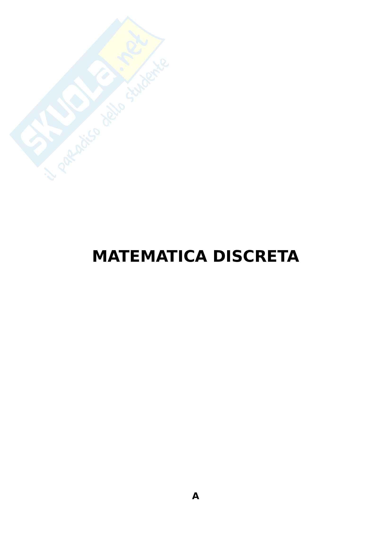 Formulario Matematica discreta
