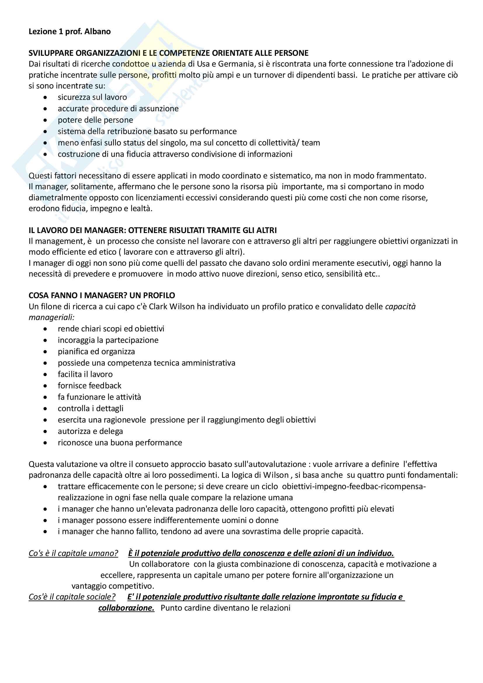 Gestione risorse umane (Albano)