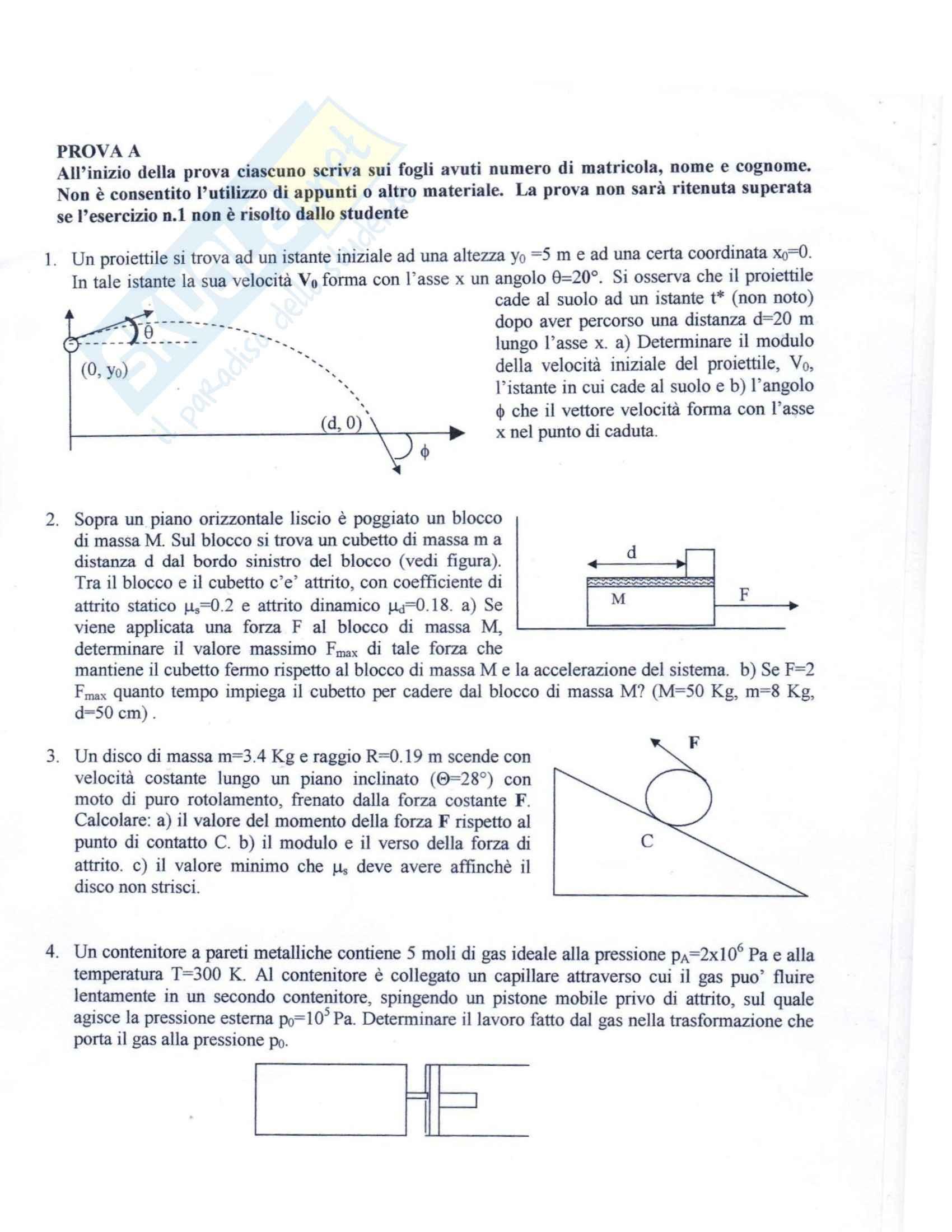 Fisica I - Prova d'esame Febbraio 2009