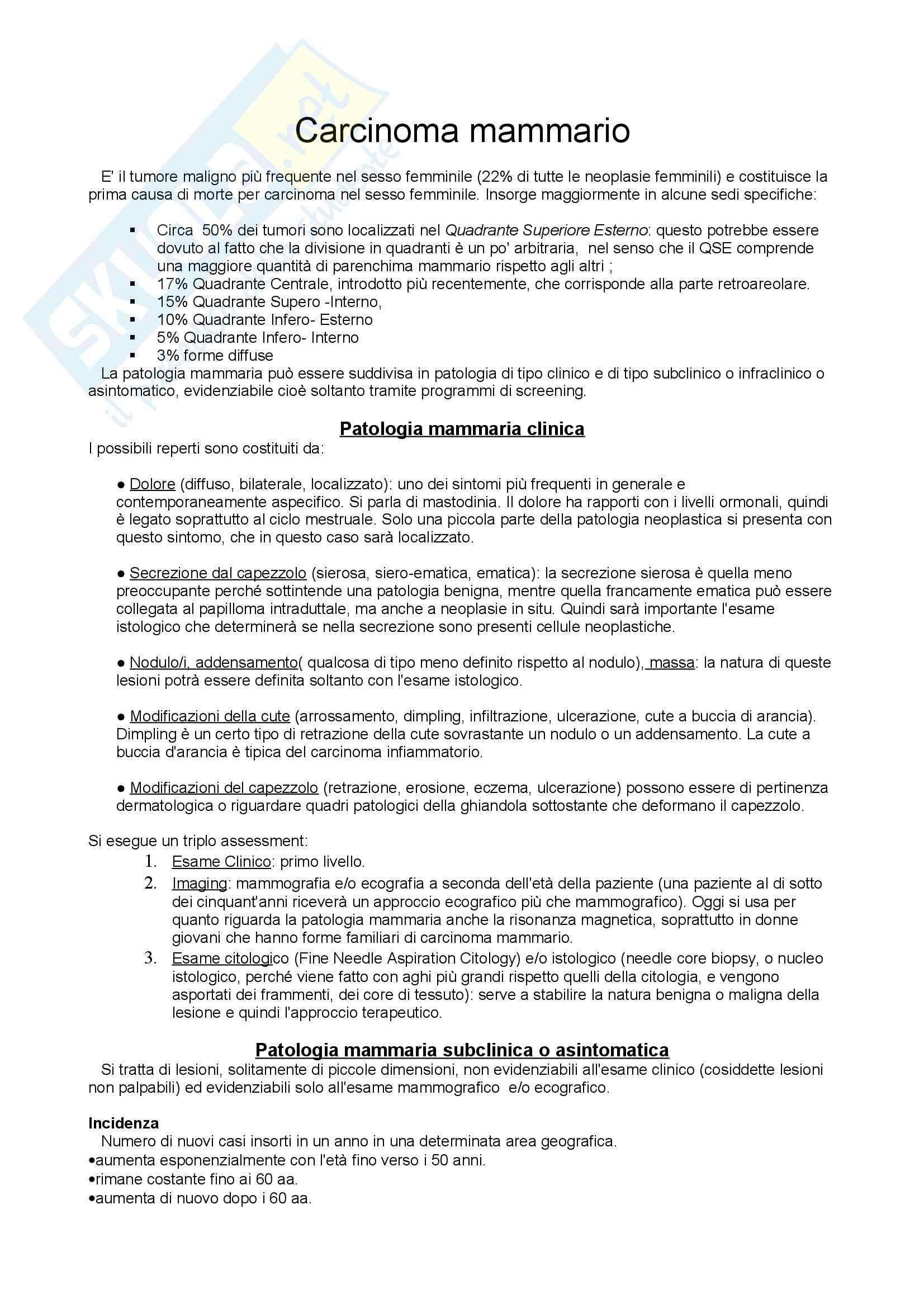 Anatomia Patologica - Patologia mammaria