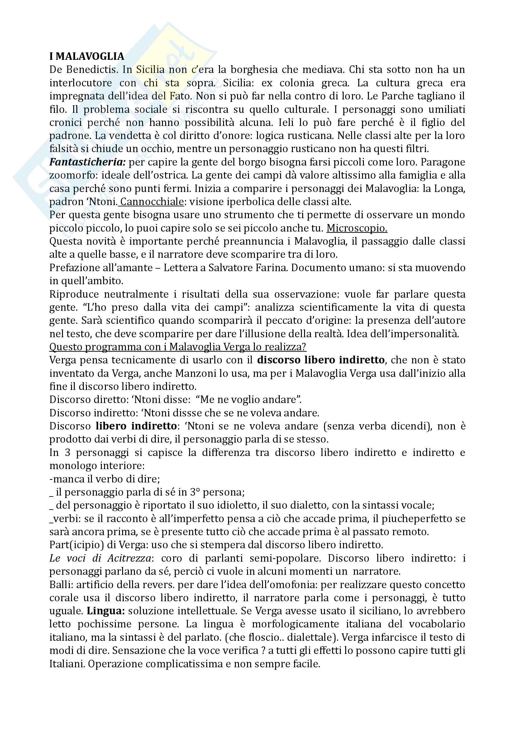 Appunti Verga prof. Muscariello