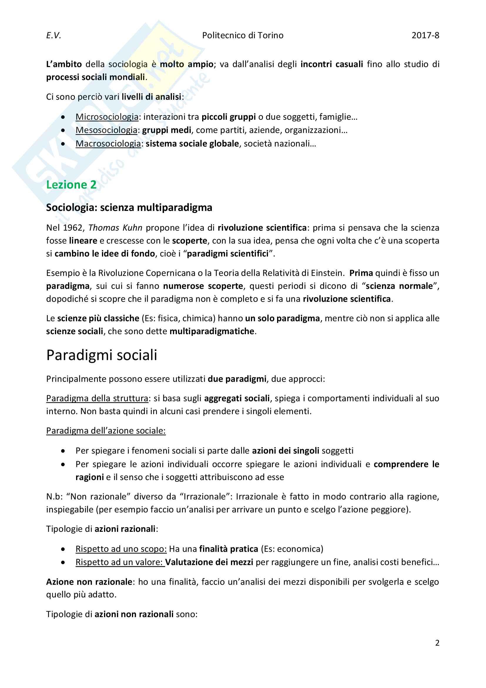 Appunti completi di Sociologia urbana Pag. 2