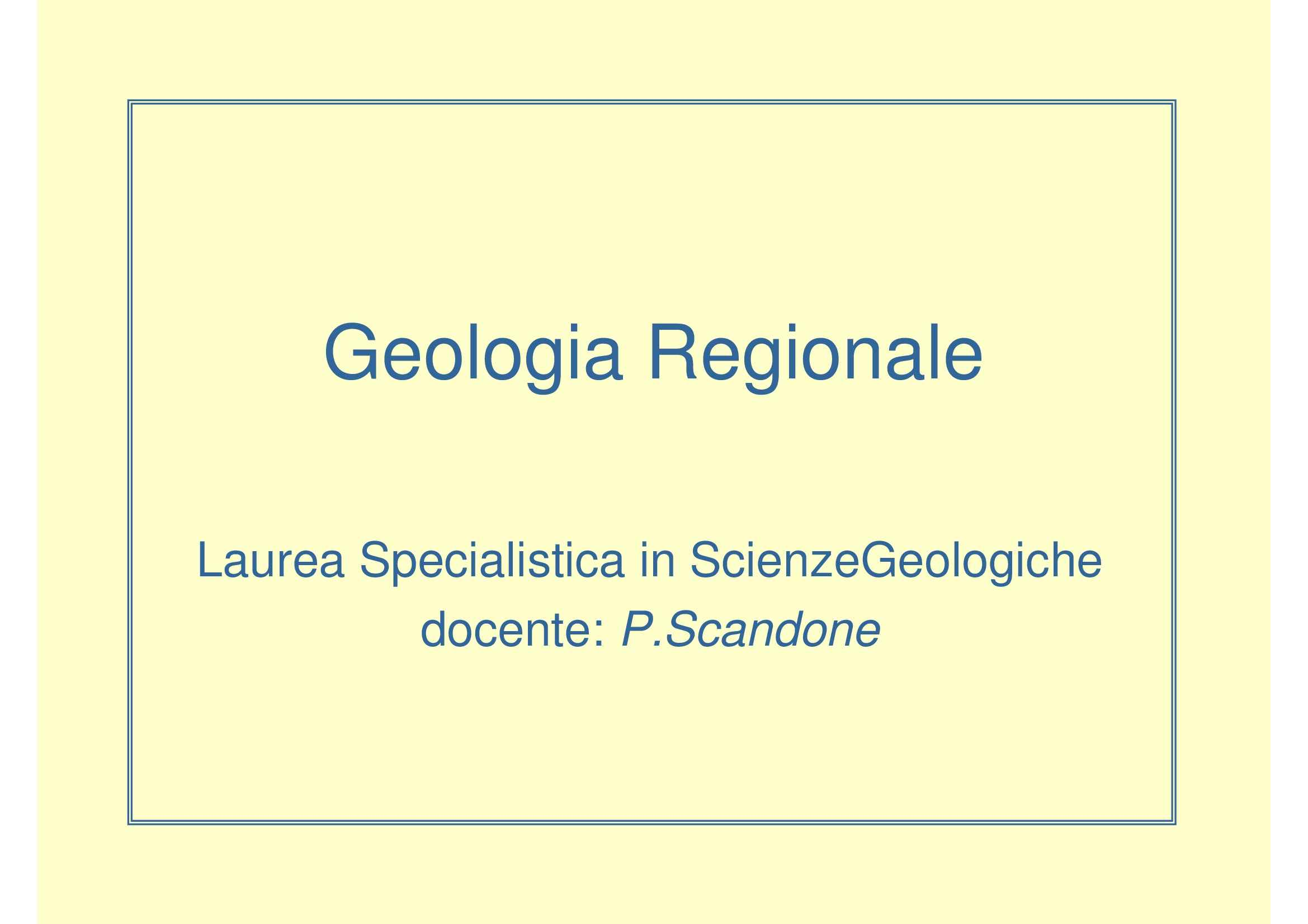 Geologia regionale del Mediterraneo