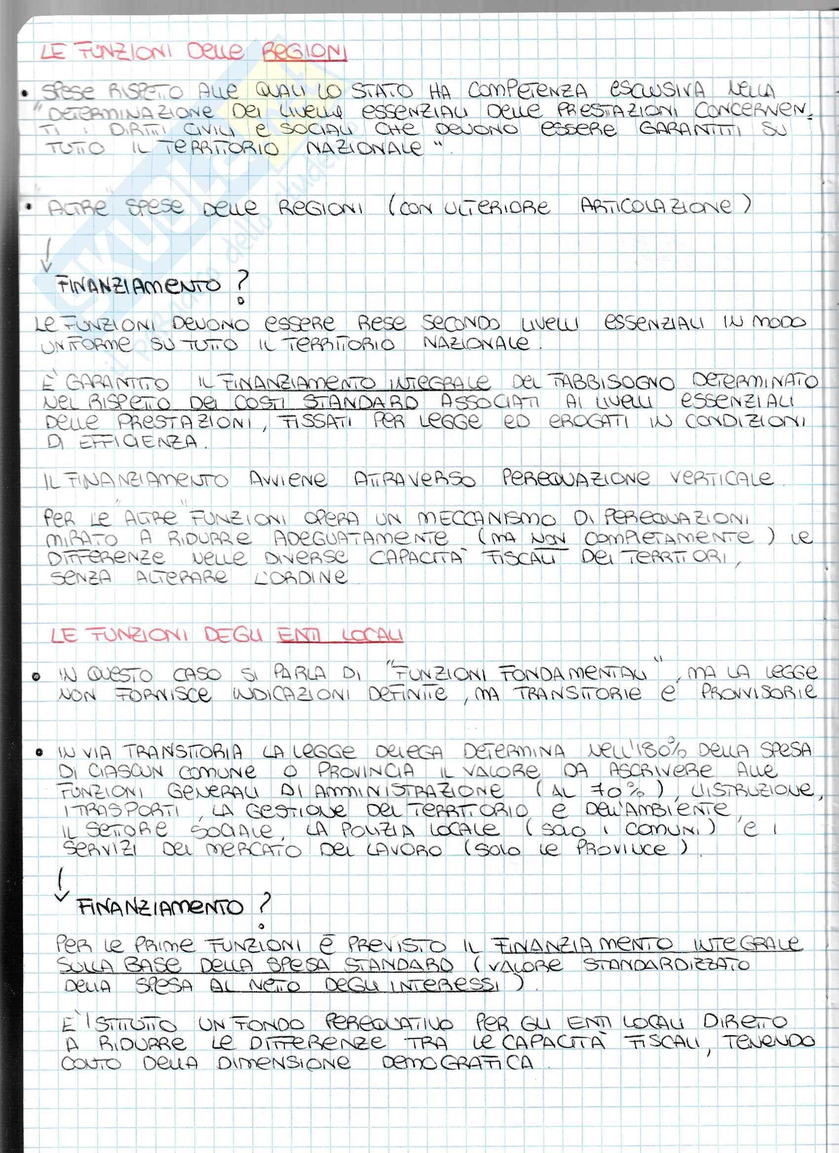 Appunti - Il federalismo fiscale: concetto e sistema in Italia Pag. 11