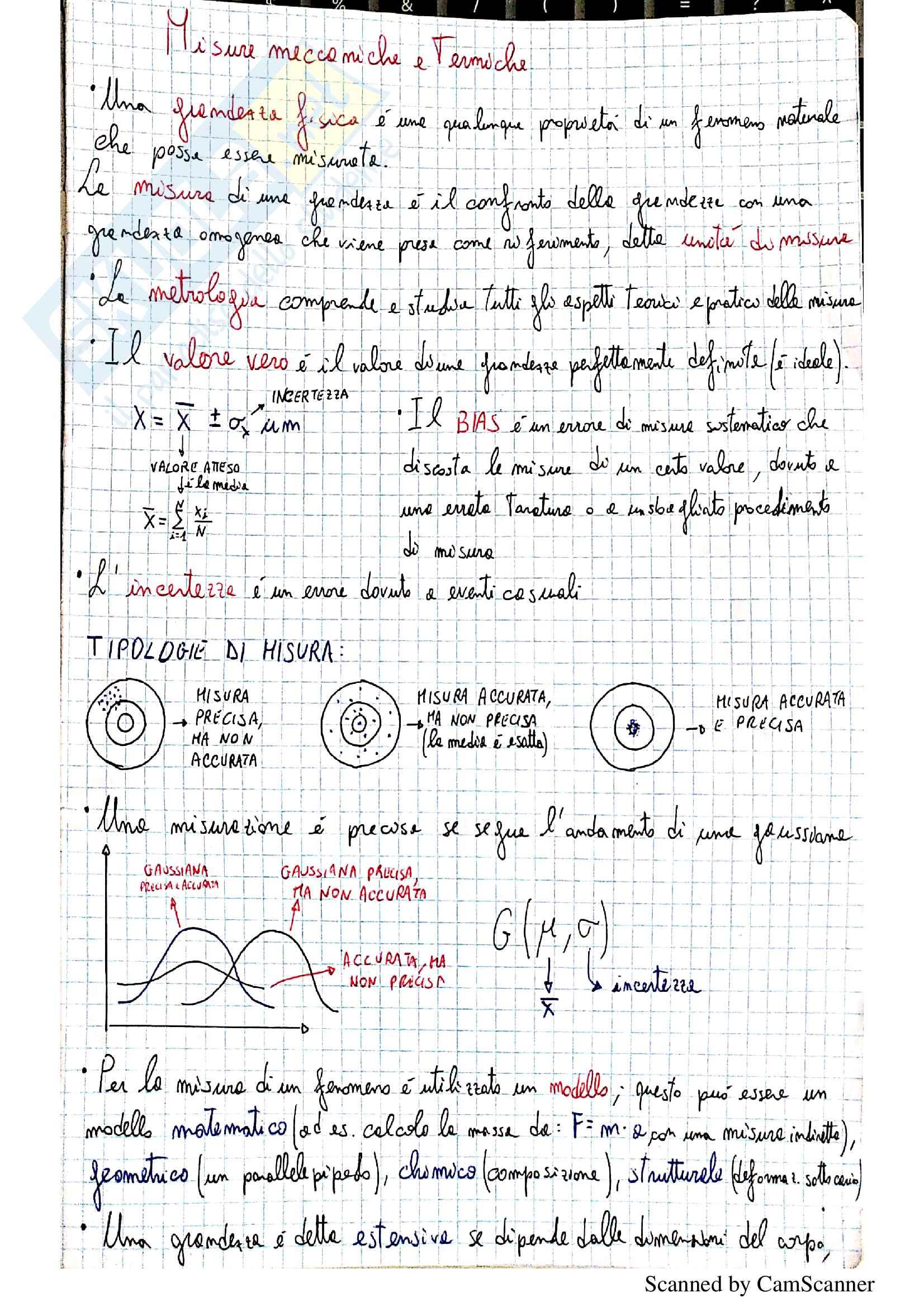 Appunti di Misure Meccaniche e Termiche (prof.Vacca-Fabbiano)