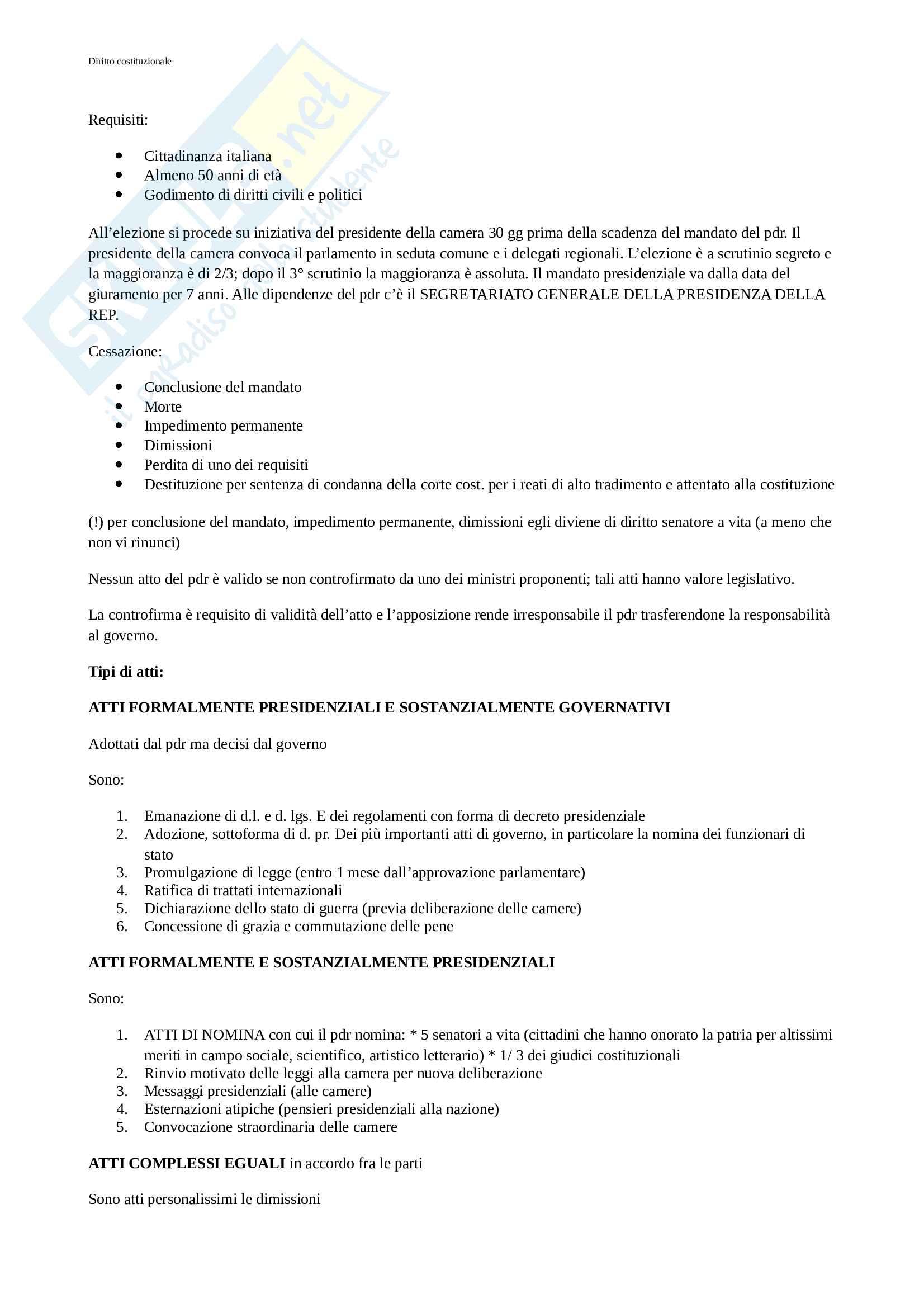 Riassunto esame diritto costituzionale I, prof Imarisio, libro consigliato Diritto costituzionale, Bin, Pitruzzella Pag. 11