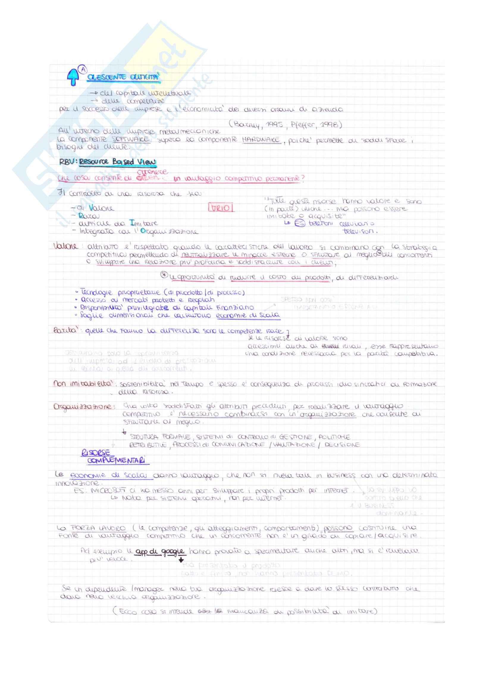 Appunti di Organizzazione e gestione delle risorse umane Pag. 2
