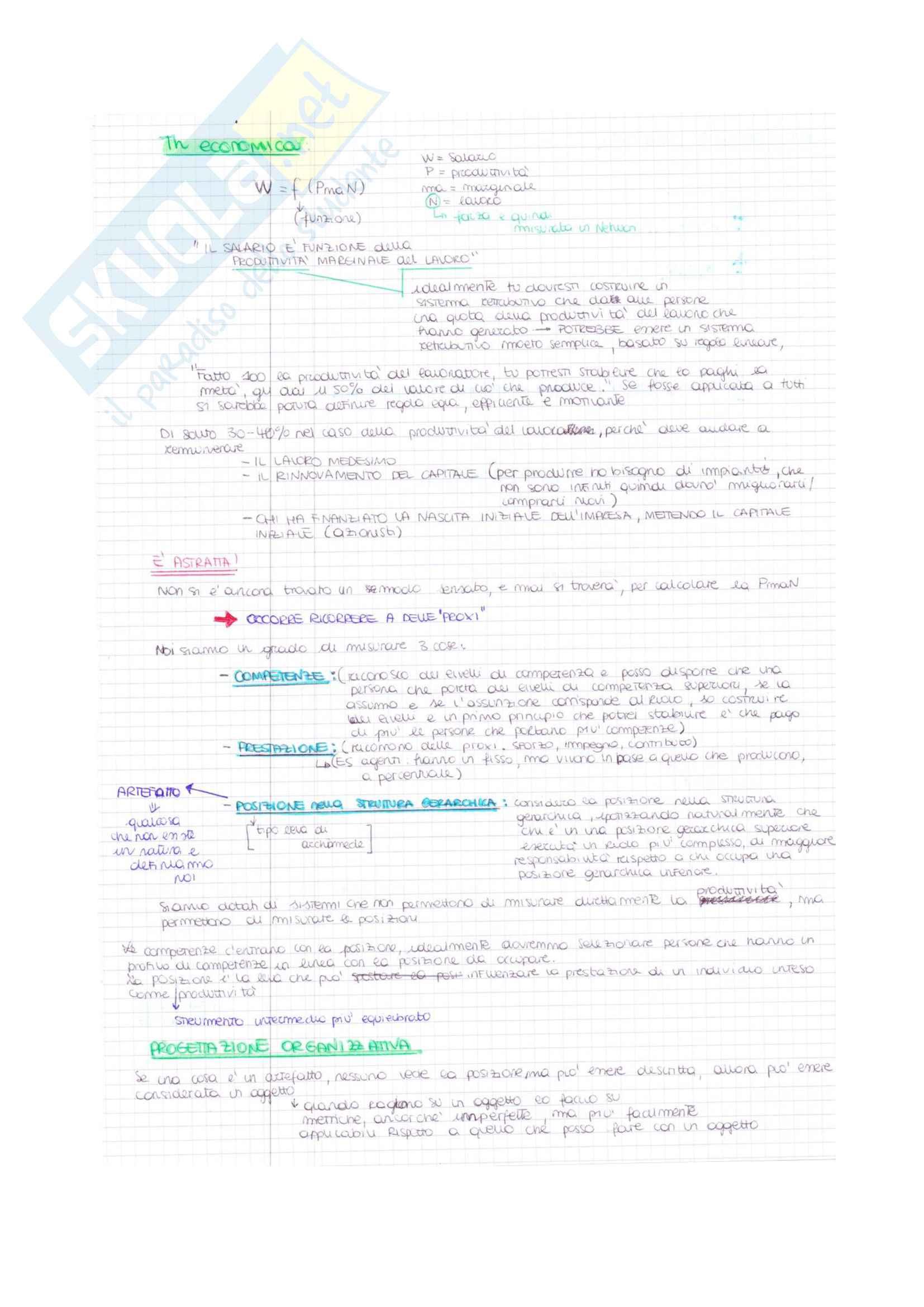 Appunti di Organizzazione e gestione delle risorse umane Pag. 46