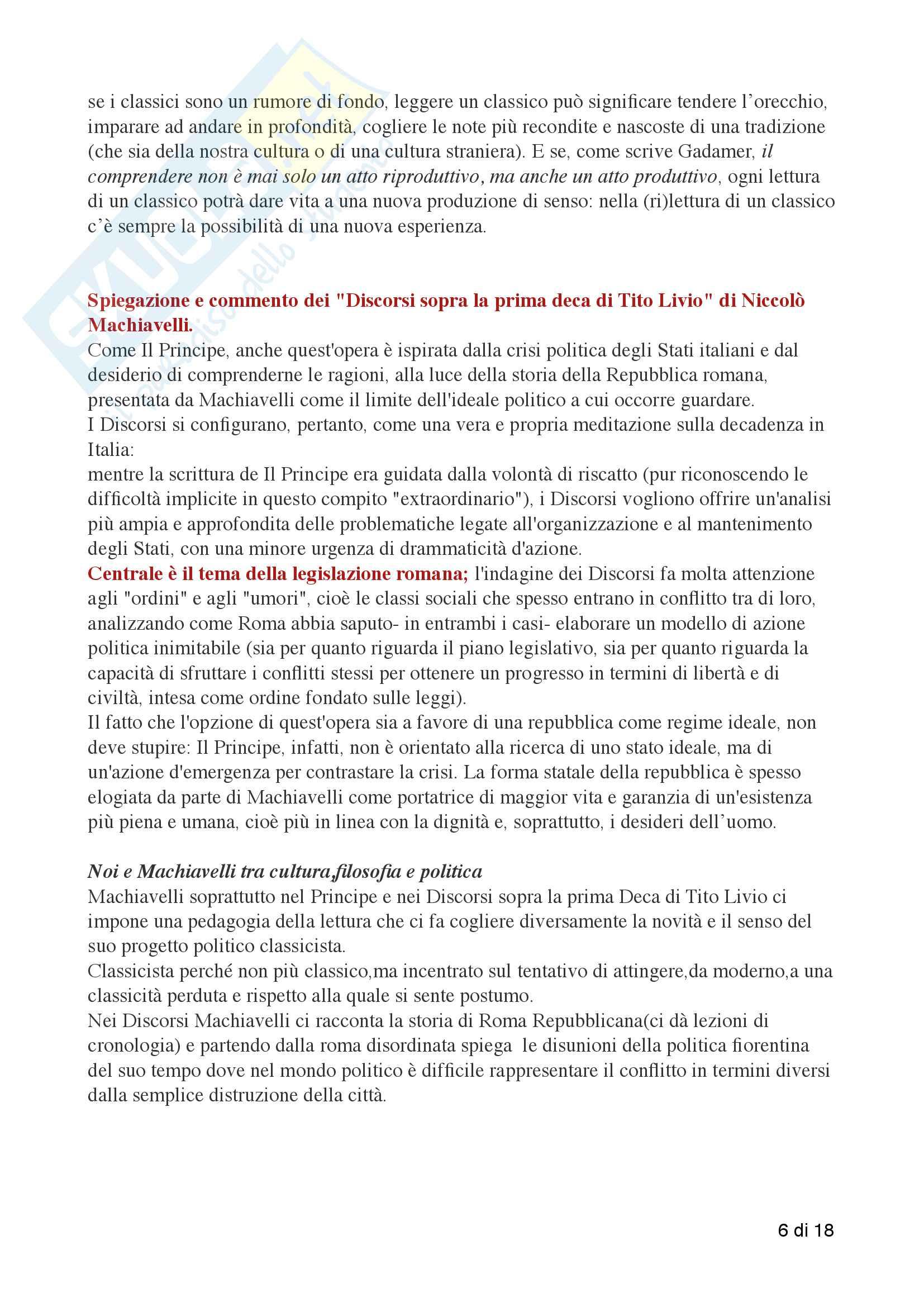 Riassunto esame filosofia della cultura, prof. De Simone Antonio, libro consigliato Intervista a Machiavelli, Antonio De Simone, Davide D'Alessandro Pag. 6