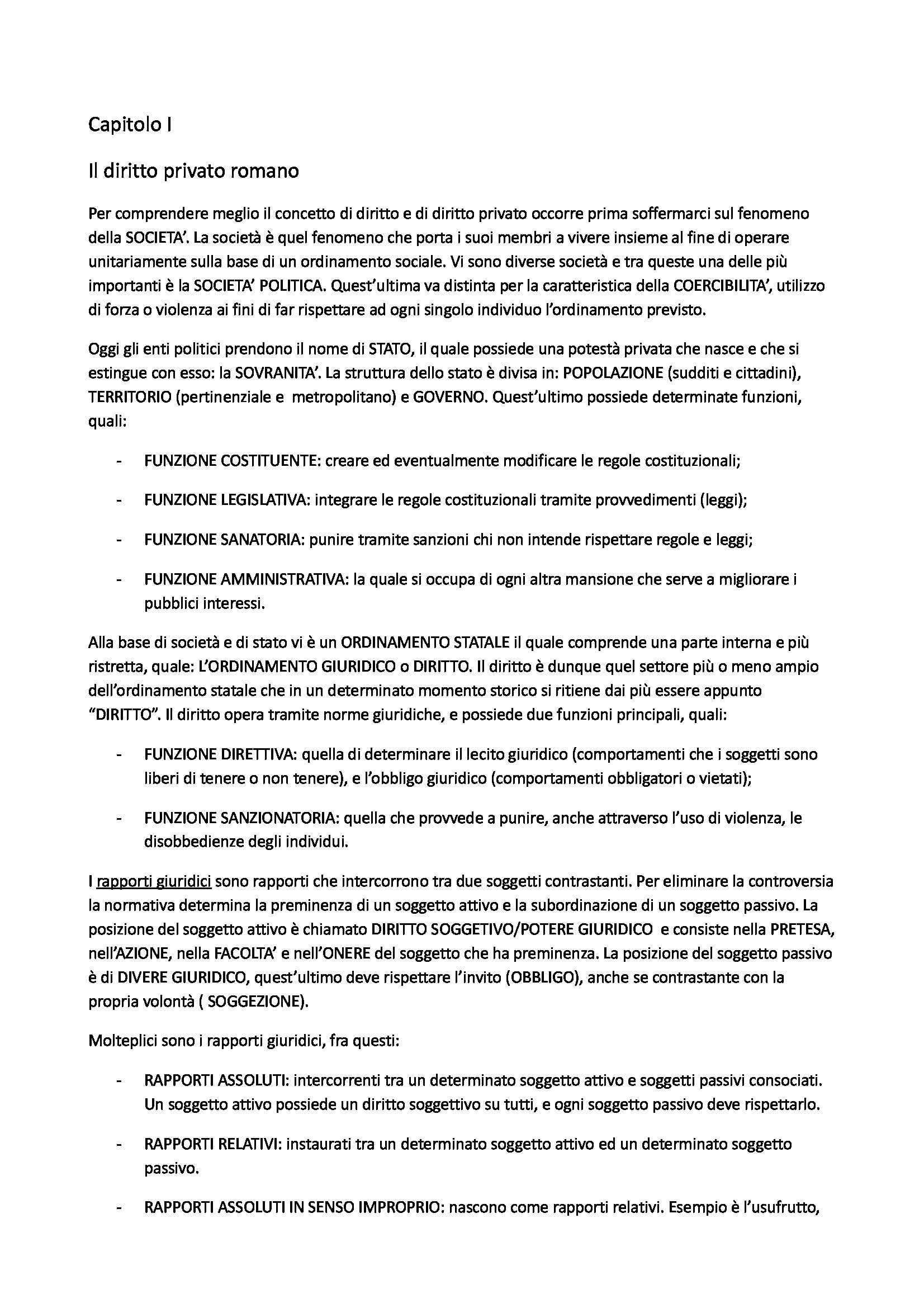 Riassunto esame Istituzioni di Diritto Romano, prof. Di Lella, libro consigliato Ragguaglio, Guarino