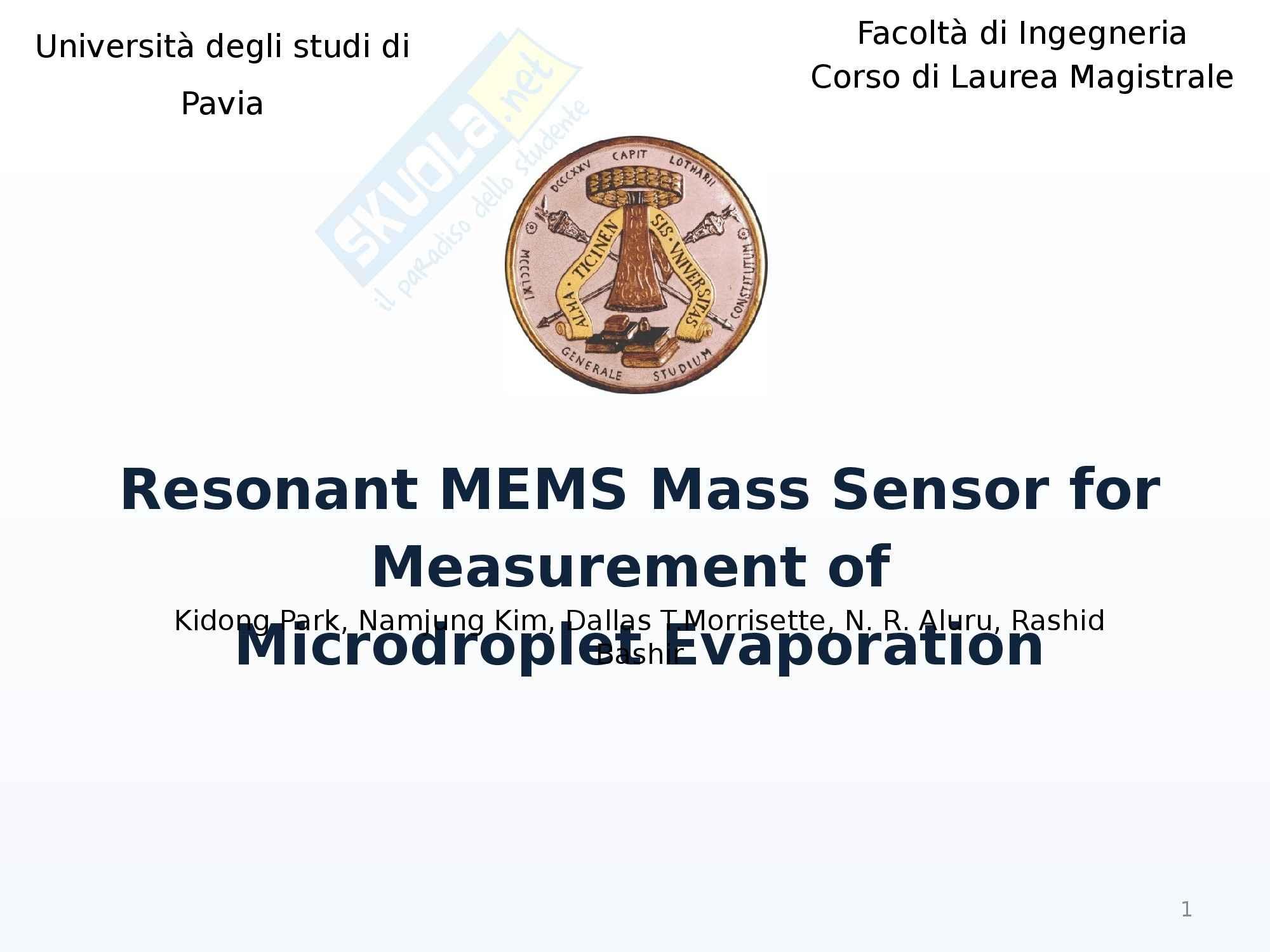Relazione Mems microgocce - Tesi