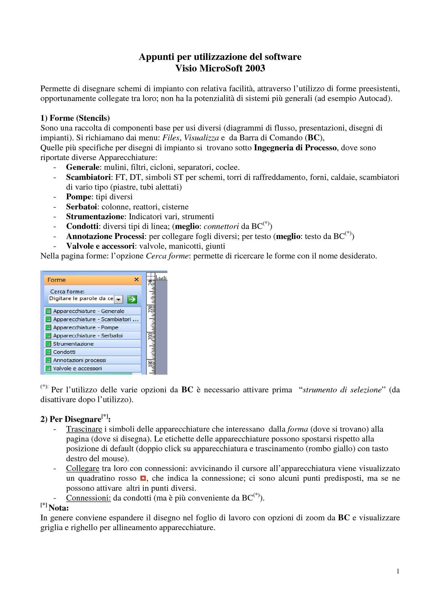 Visio 2003 - Guida all'utilizzo
