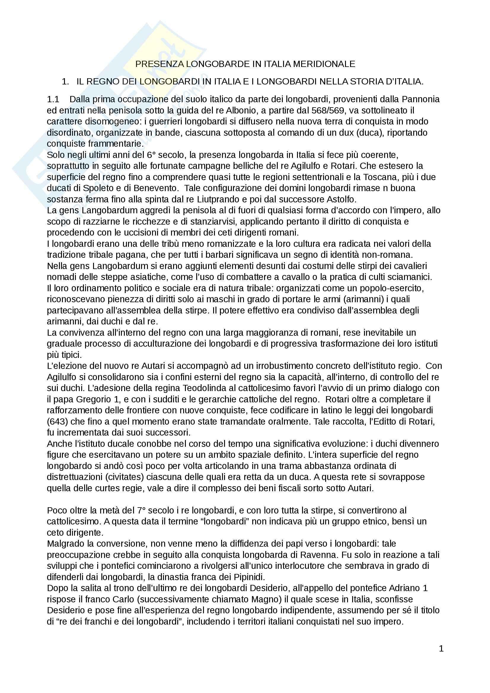 Presenza longobarda in Italia meridionale, Filologia germanica