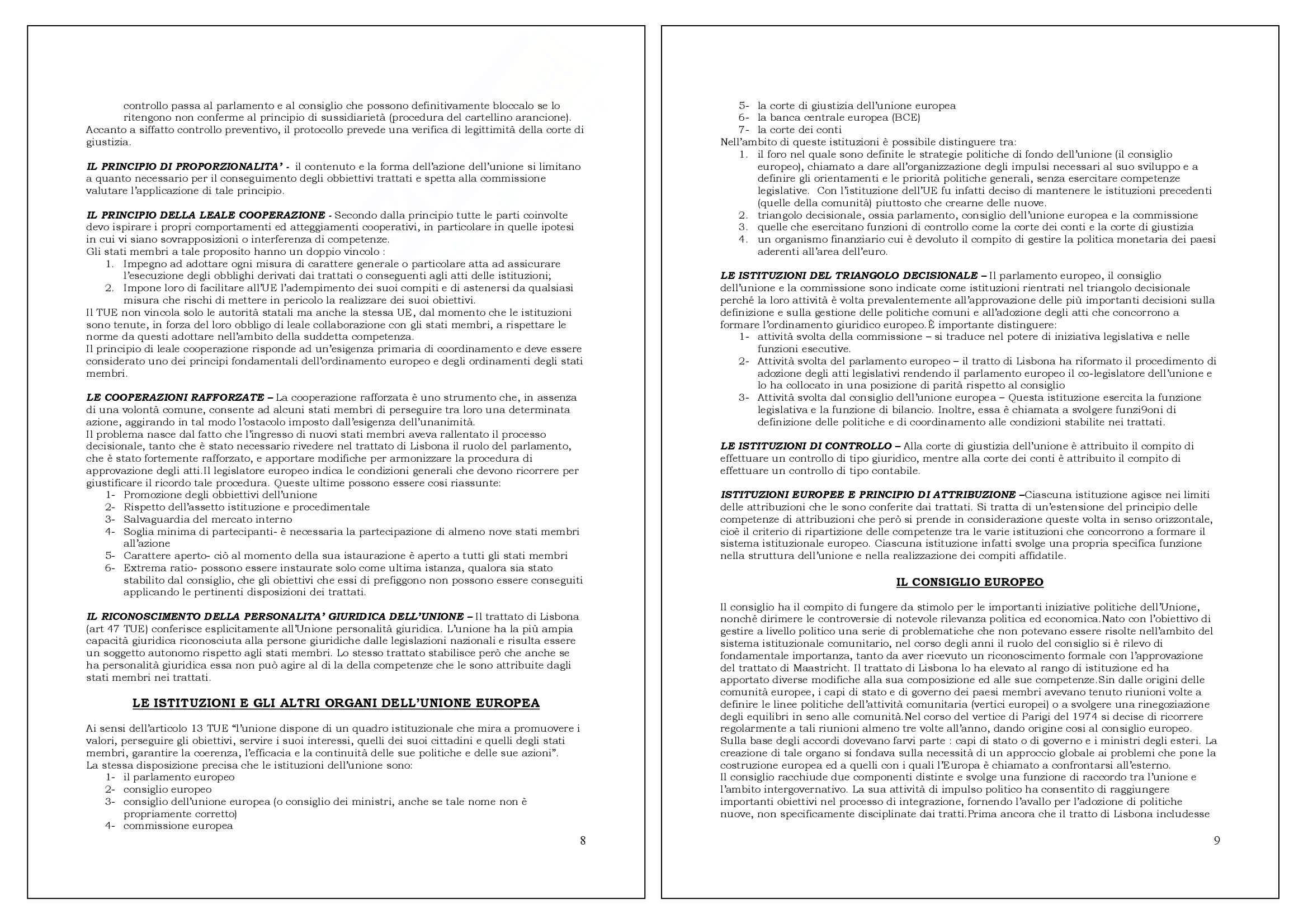 Riassunto esame Diritto dell'Unione Europea., prof. Bergamini, libro consigliato Diritto dell'Unione Europea di Tesauro