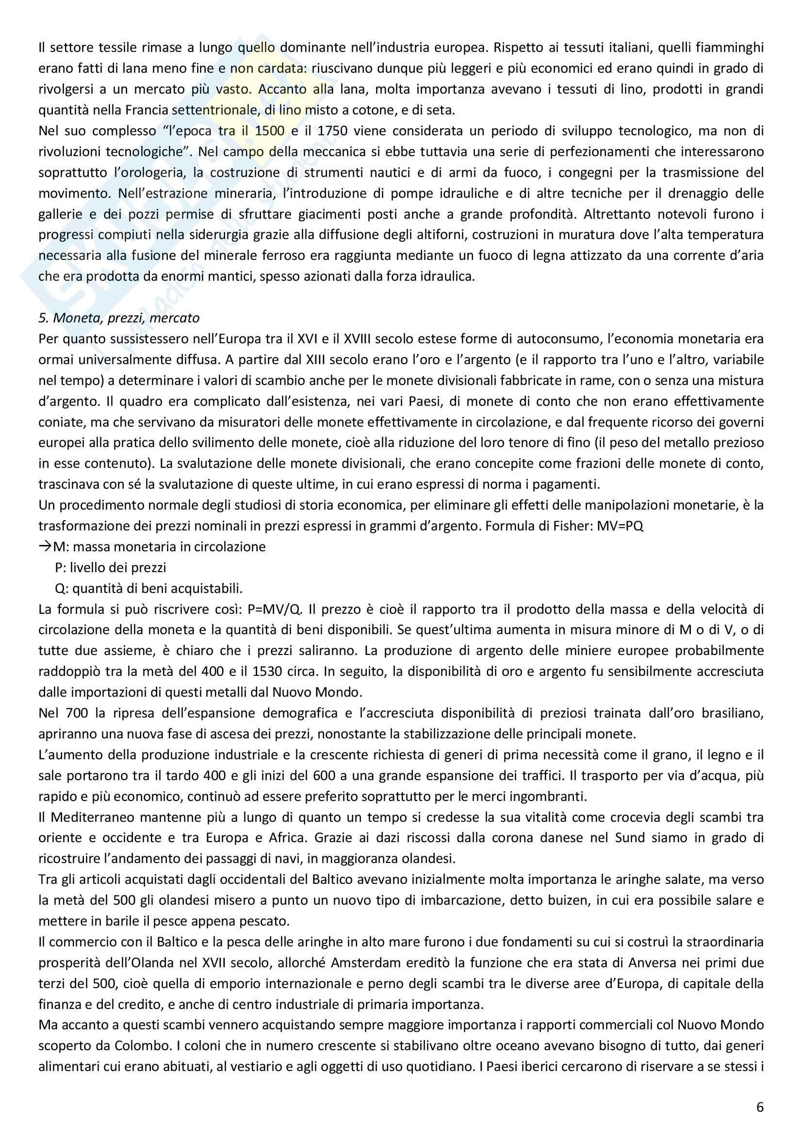Riassunto esame Storia moderna, prof. Melani, libro consigliato Storia moderna (1492 1848), Capra Pag. 6