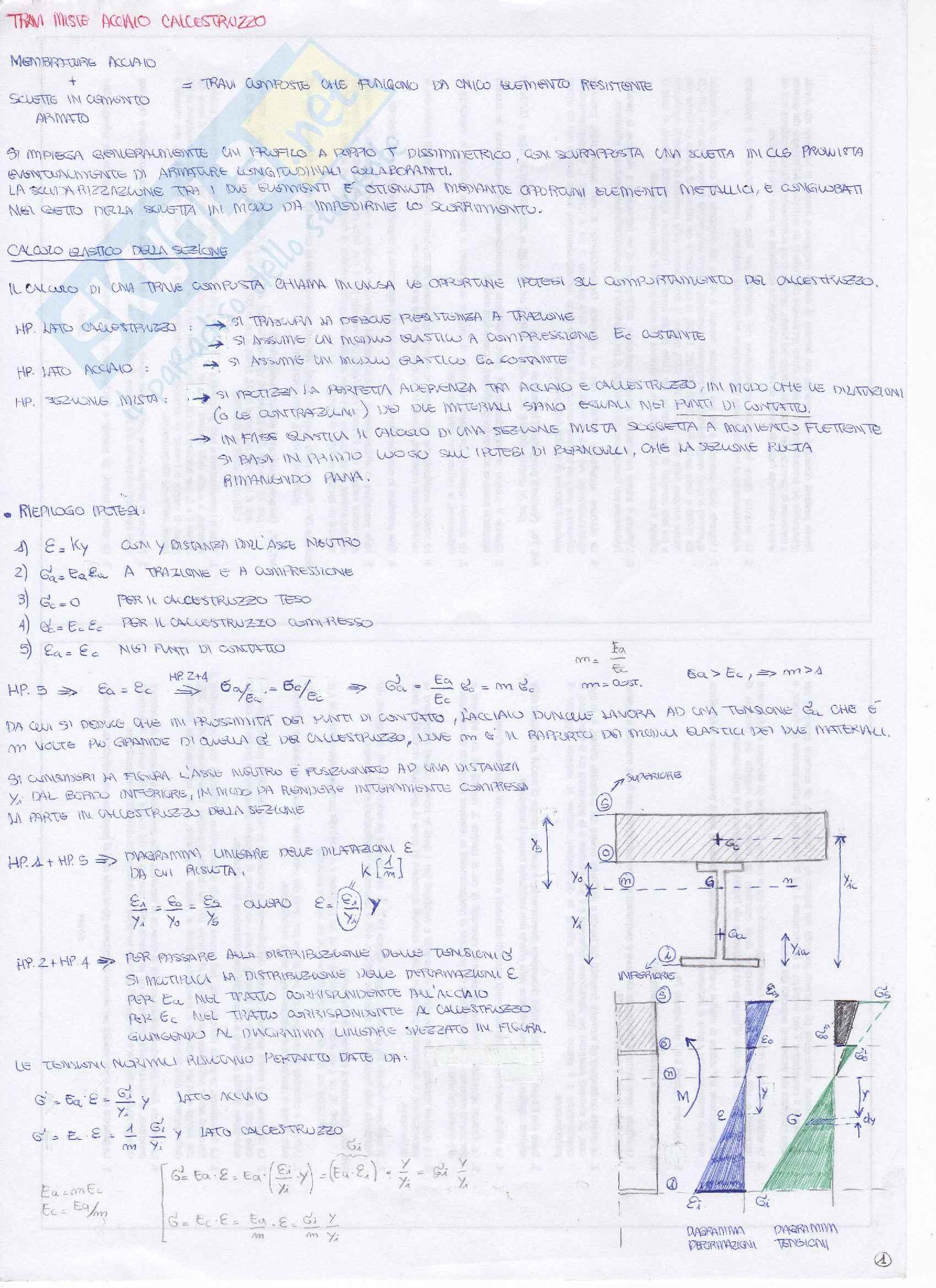 Tecnica delle costruzioni - Strutture miste Acciaio Calcestruzzo Pag. 1